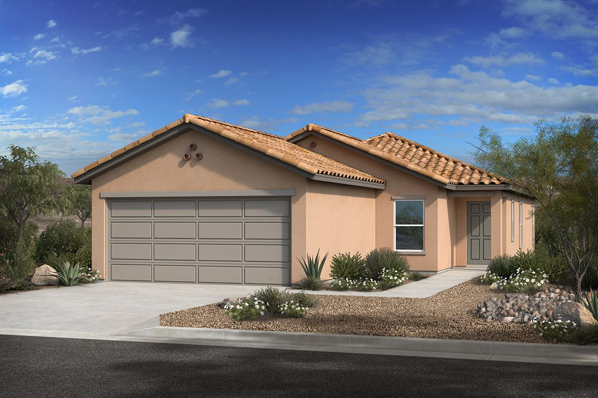 Exterior featured in the Plan 1620 By KB Home in Tucson, AZ