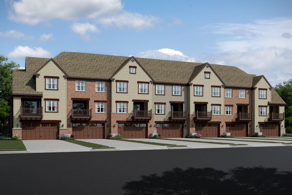 Parkside at Libertyville-7 Unit TH-Rear-elev