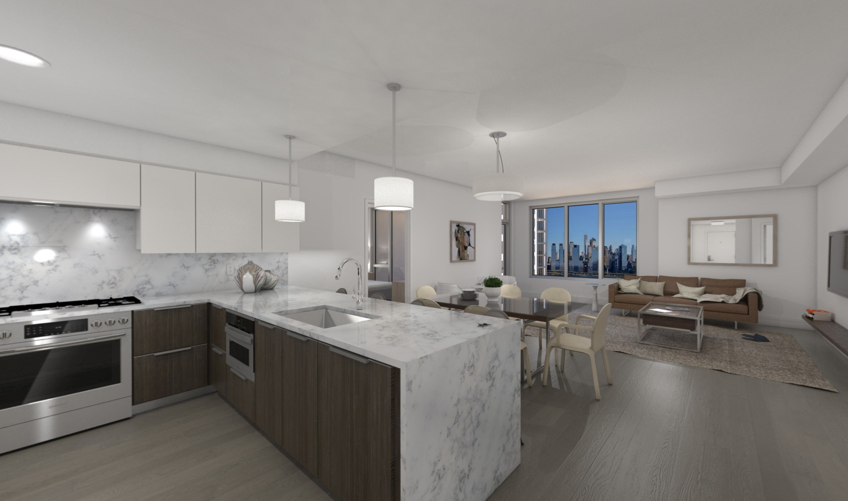 Kitchen-in-B9-at-Nine on the Hudson-in-West New York
