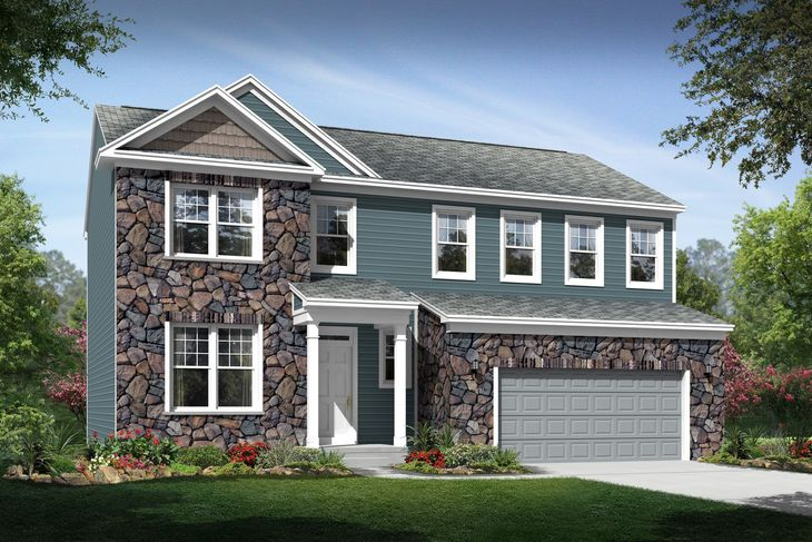 Exterior:Anderson D with opt. stone