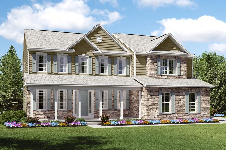 Exterior:Dover C2 with stone