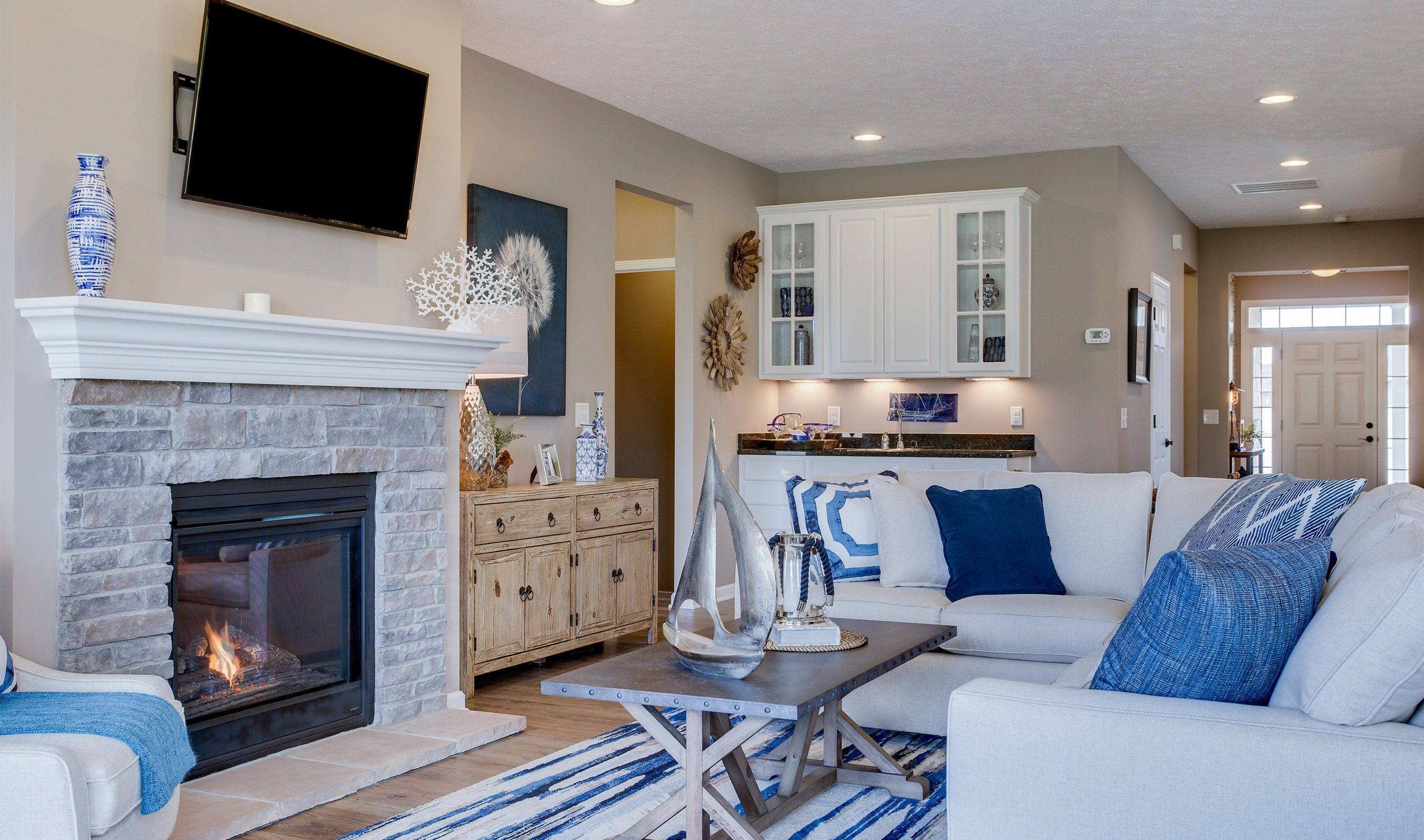 Living Area featured in the Dorchester Loft By K. Hovnanian's® Four Seasons in Cleveland, OH