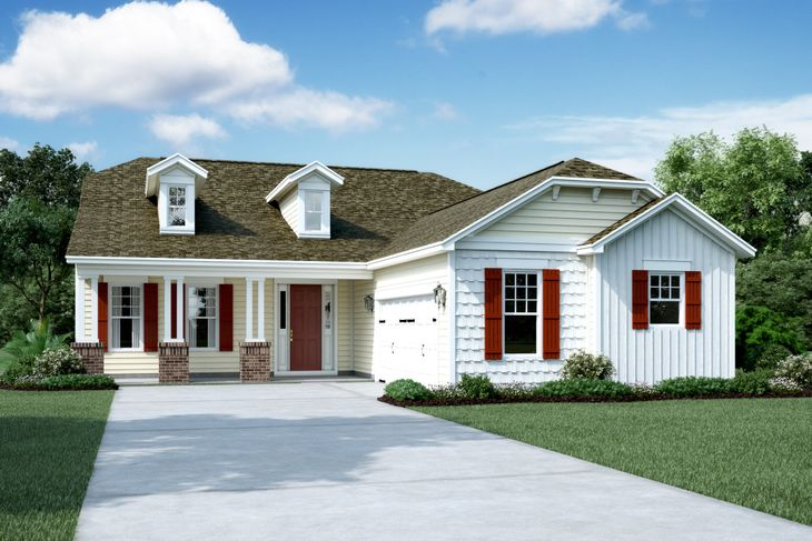 Exterior:Elevation E - Shown with Opt. Dormers
