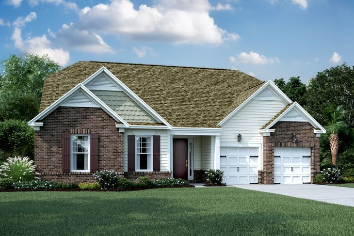 Exterior:Elevation F2 - Shown with Opt. Brick
