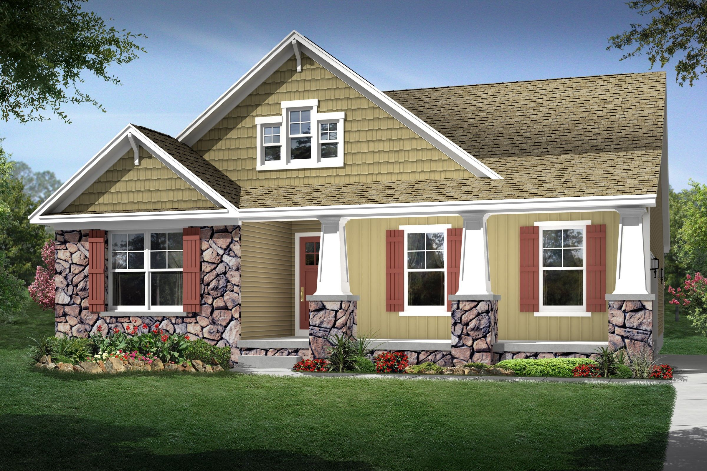 Exterior featured in the Brooklynn By K. Hovnanian® Homes - Build on Your Lot