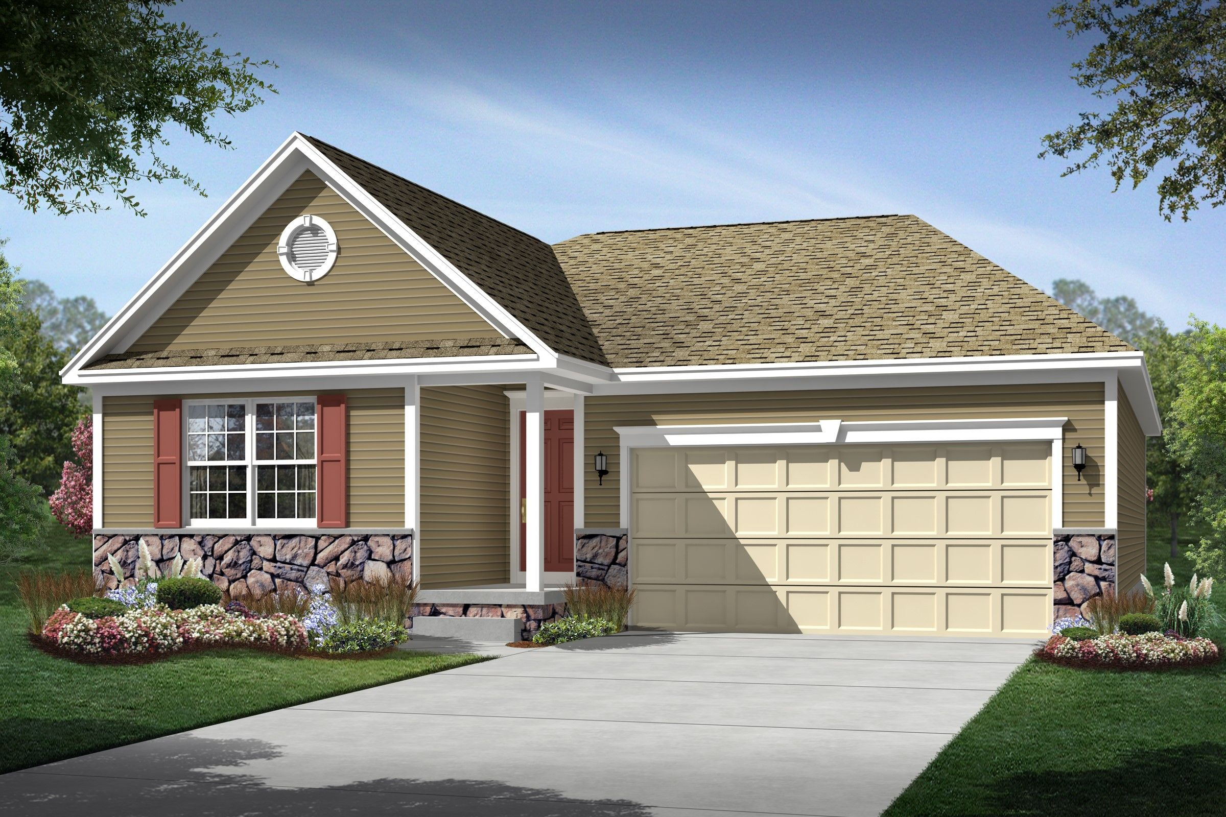 Exterior featured in the Brooklynn By K. Hovnanian® Homes - Build on Your Lot in Mansfield, OH