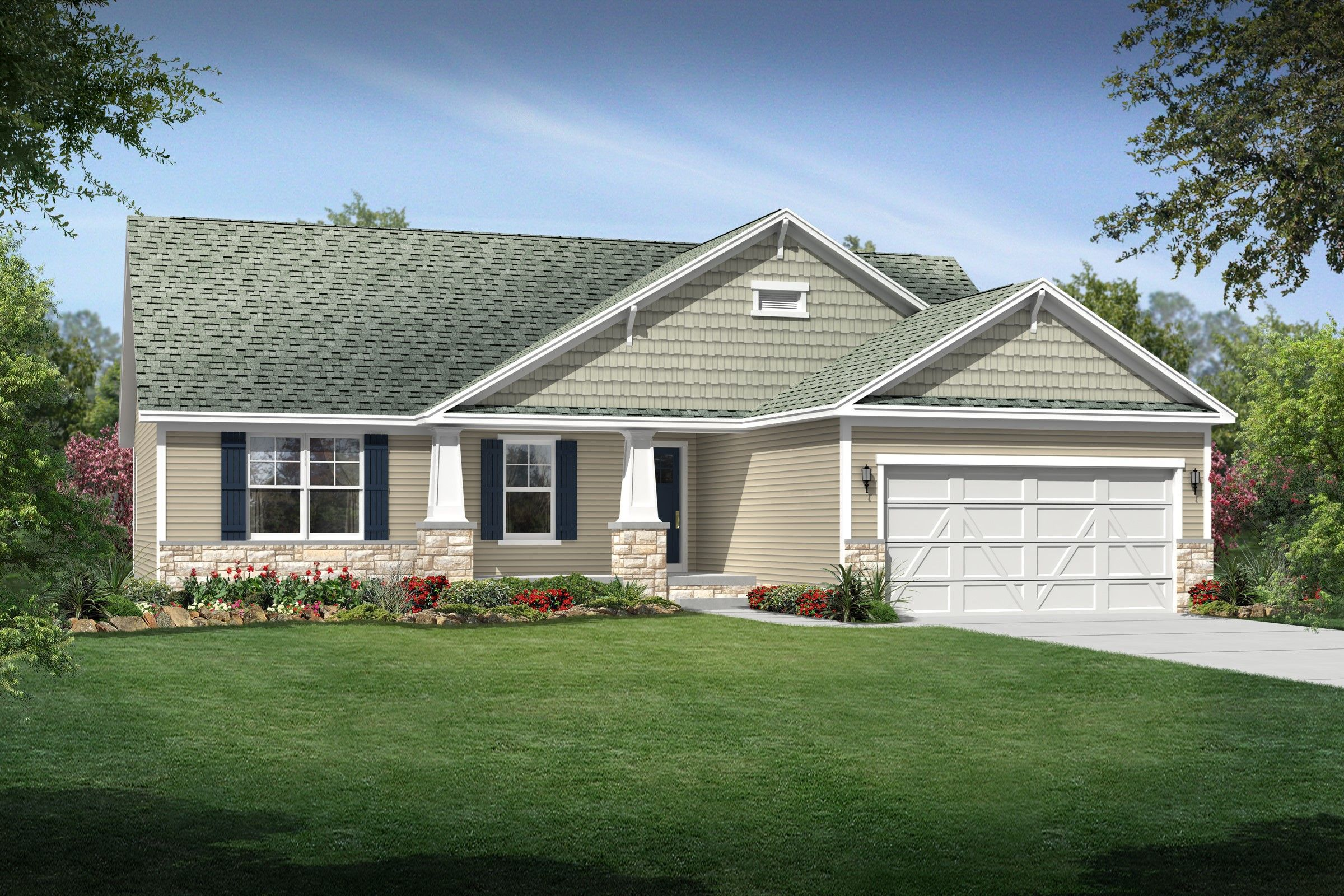 Exterior featured in the Danielle By K. Hovnanian® Homes - Build on Your Lot