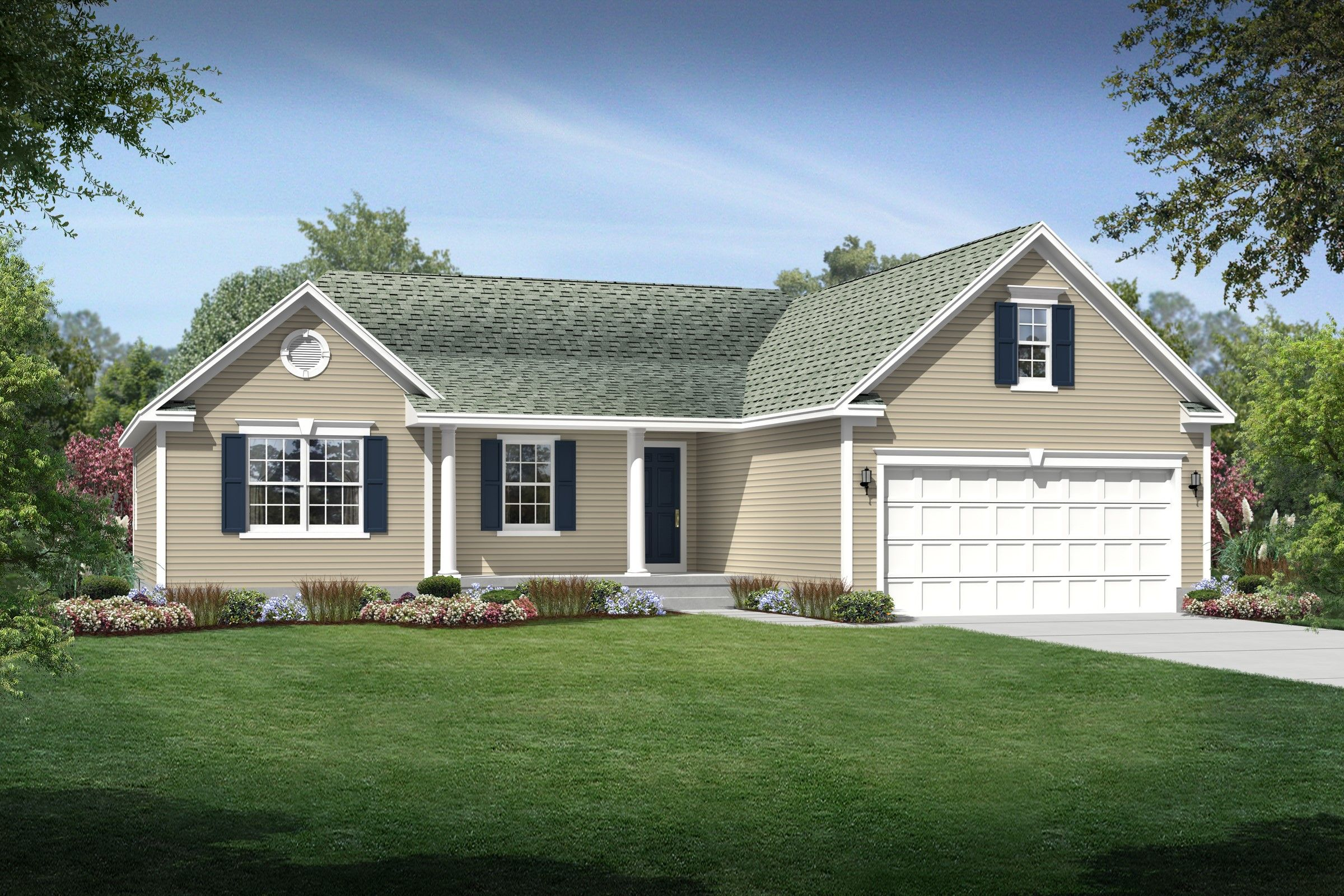 Exterior featured in the Danielle By K. Hovnanian® Homes - Build on Your Lot in Toledo, OH