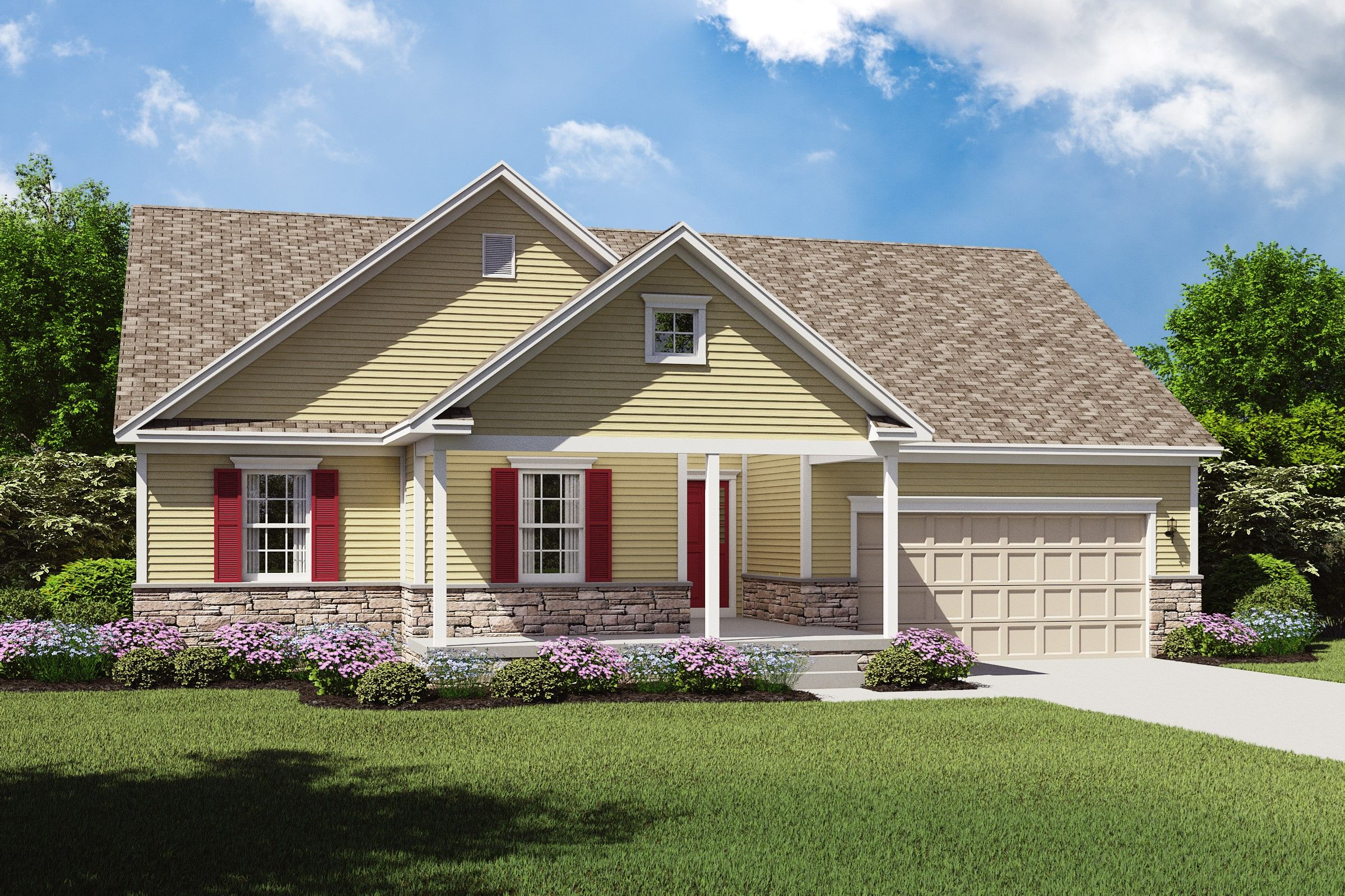 Exterior featured in the Maya By K. Hovnanian® Homes - Build on Your Lot in Mansfield, OH