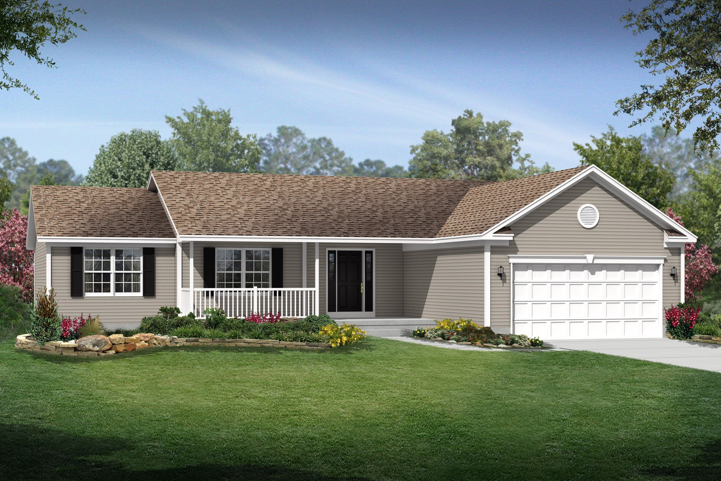 Exterior featured in the Concord By K. Hovnanian® Homes - Build on Your Lot in Canton-Massillon, OH