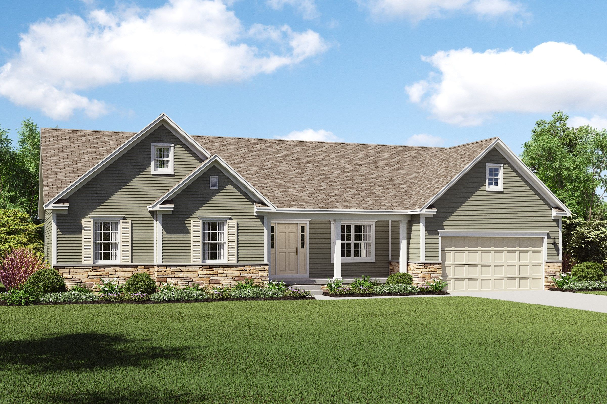 Exterior featured in the Taft By K. Hovnanian® Homes - Build on Your Lot in Youngstown-Warren, OH