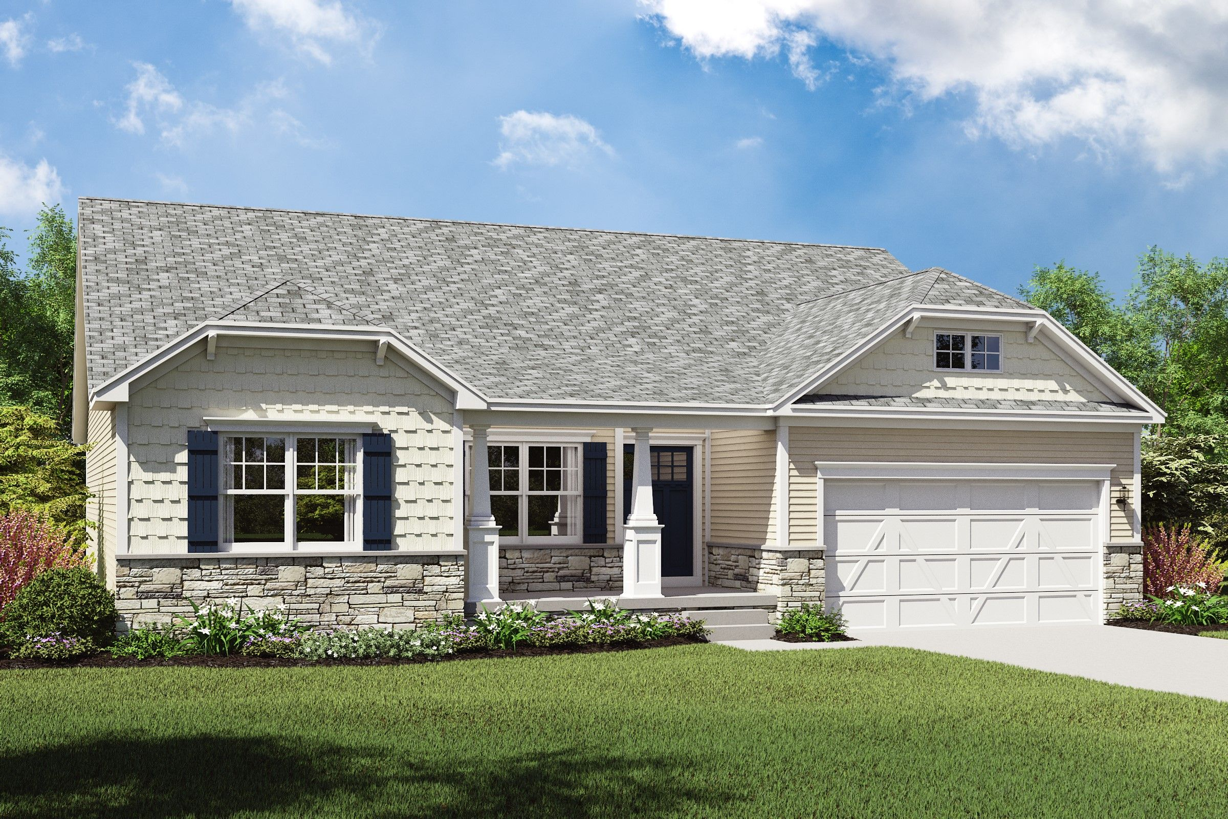 Exterior featured in the Cape Charles By K. Hovnanian® Homes - Build on Your Lot in Columbus, OH