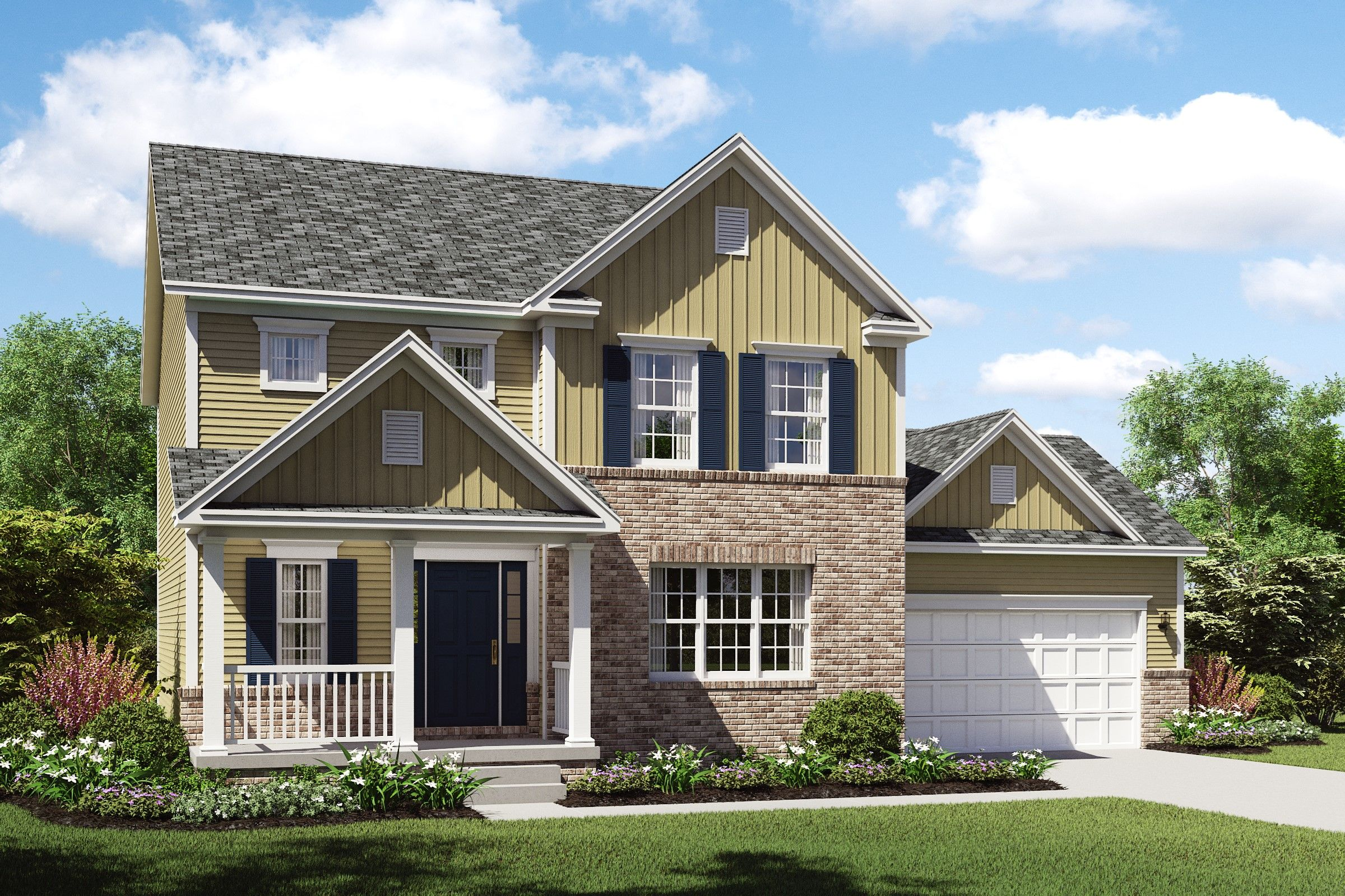 Exterior featured in the Prescott By K. Hovnanian® Homes - Build on Your Lot