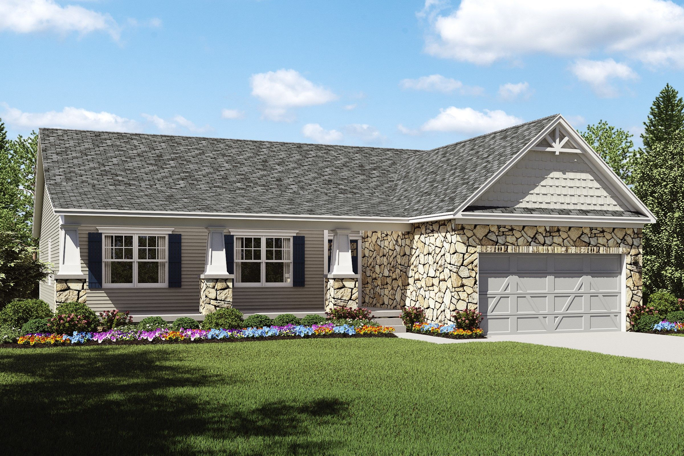 Exterior featured in the Bennett By K. Hovnanian® Homes - Build on Your Lot in Canton-Massillon, OH