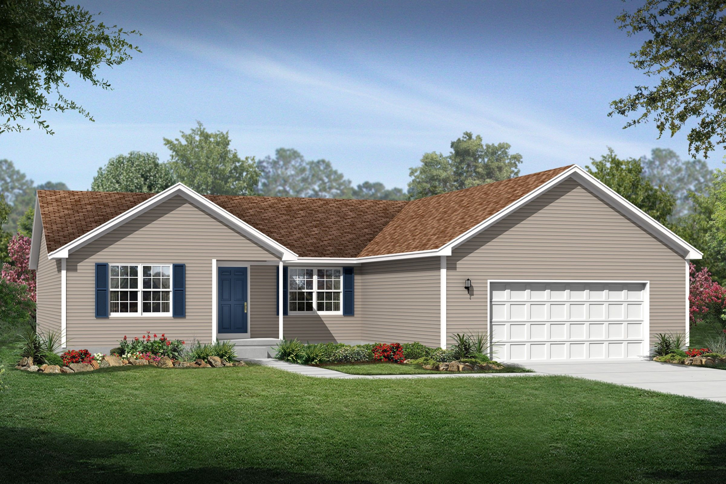 Exterior featured in the Hartland By K. Hovnanian® Homes - Build on Your Lot in Mansfield, OH