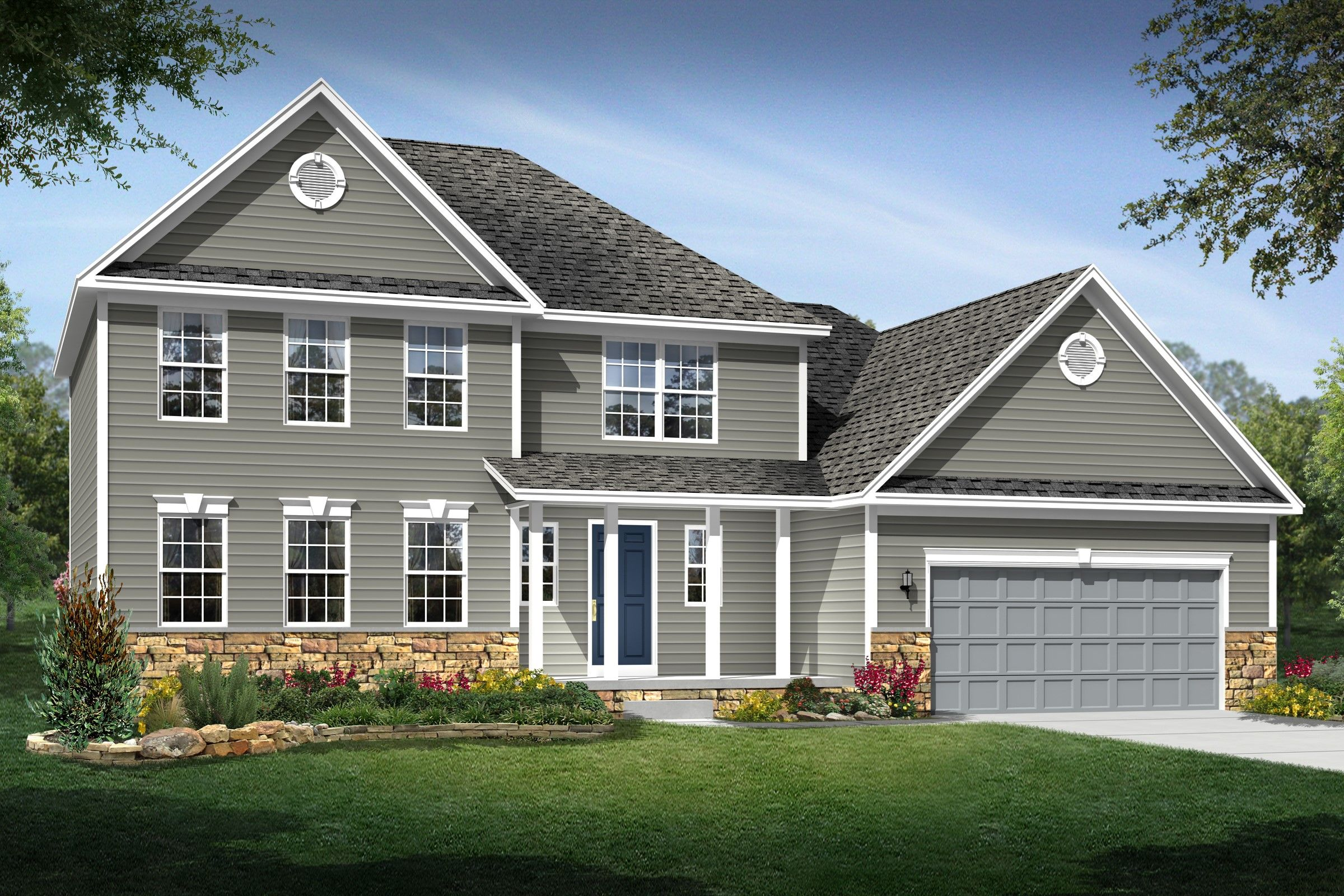 Exterior featured in the Carrington By K. Hovnanian® Homes - Build on Your Lot in Toledo, OH