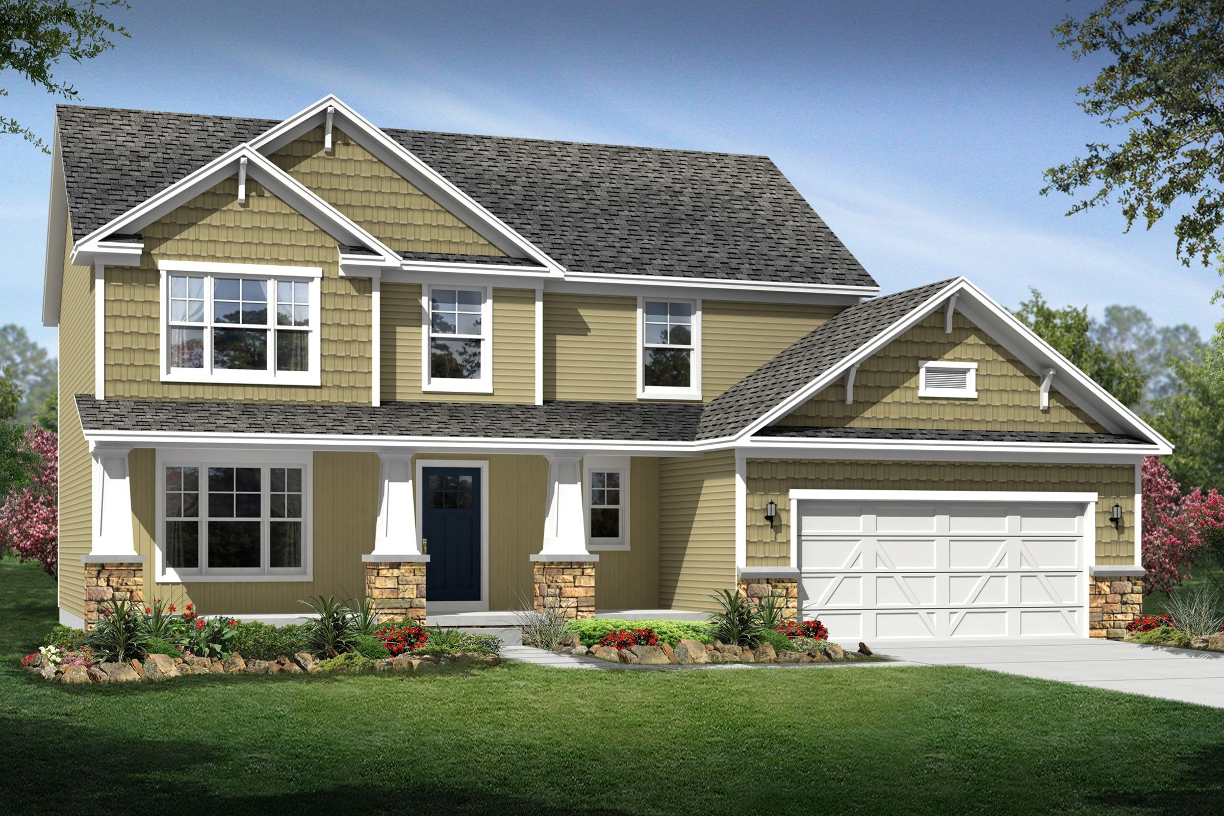 Exterior featured in the Kingston By K. Hovnanian® Homes - Build on Your Lot