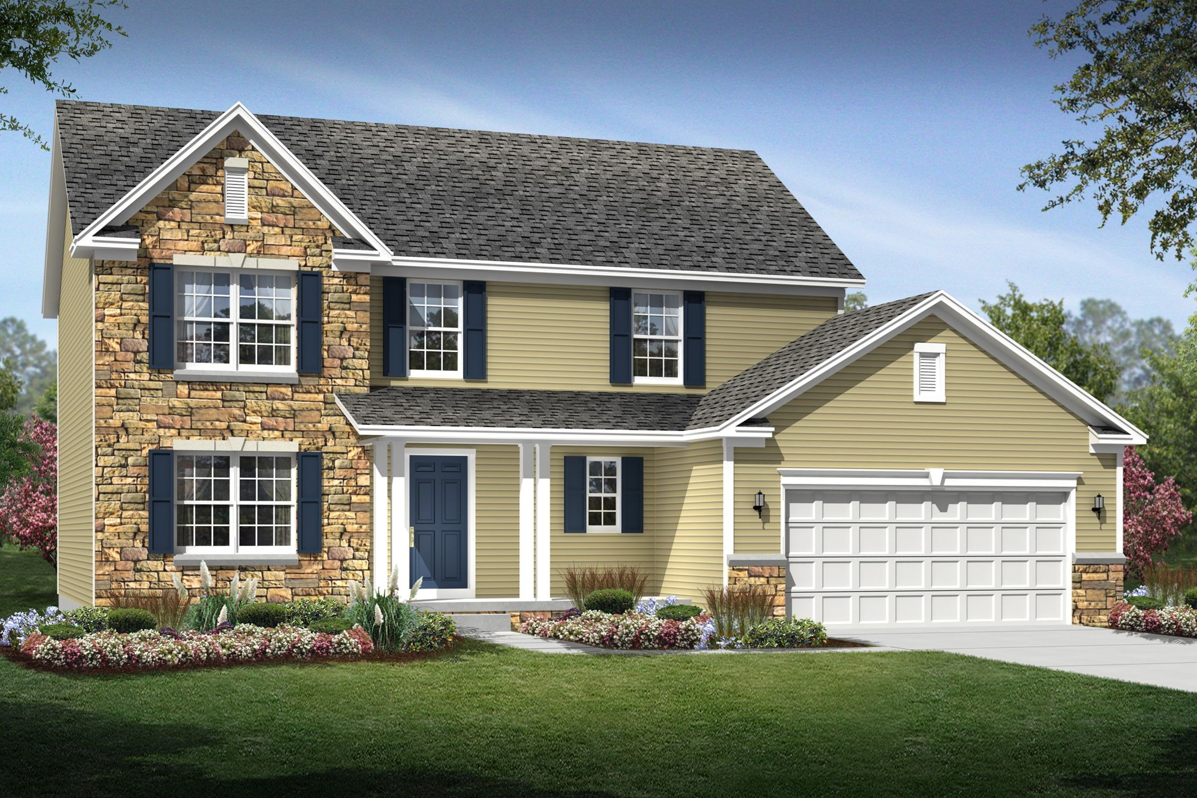 Exterior featured in the Kingston By K. Hovnanian® Homes - Build on Your Lot in Pittsburgh, PA