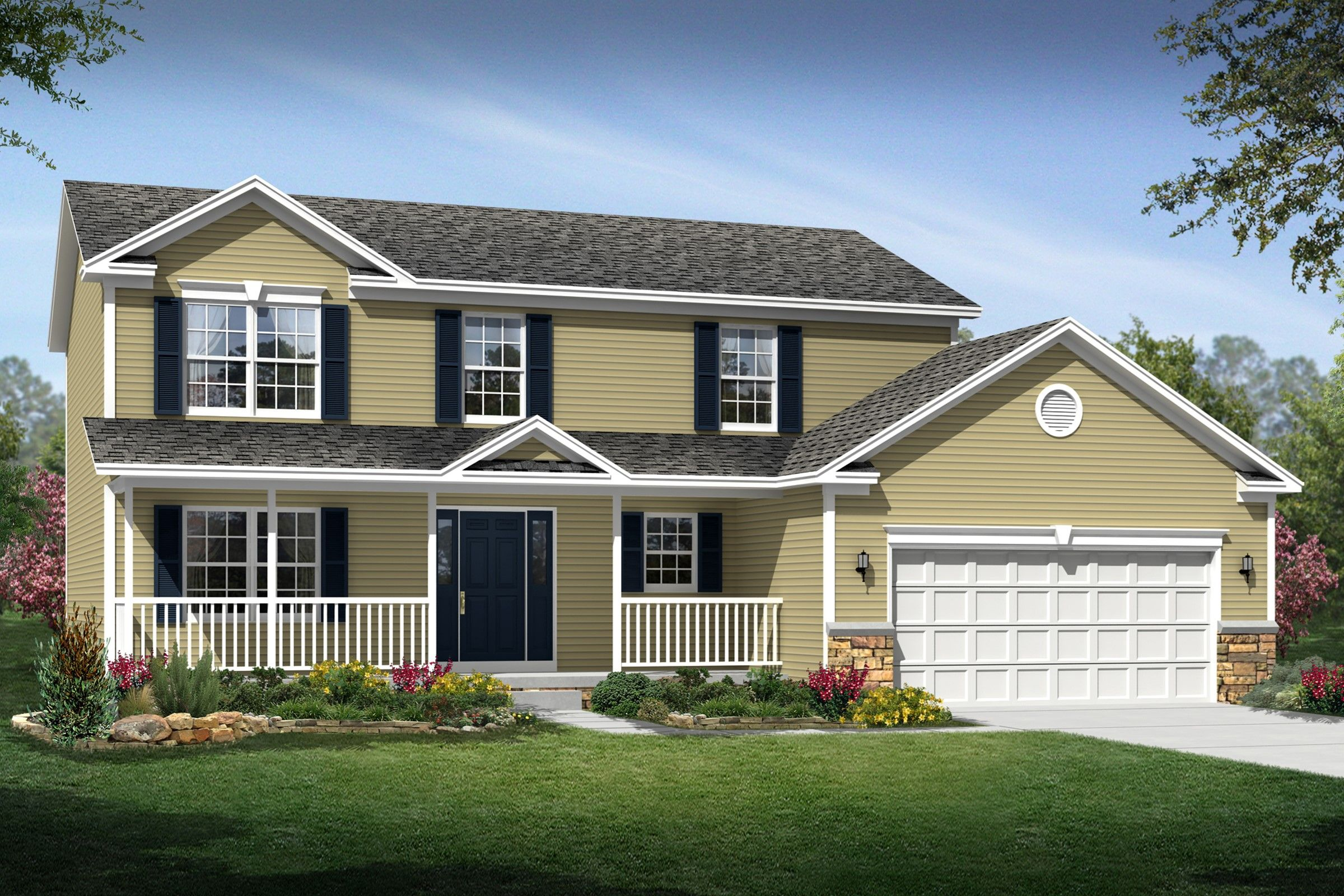 Exterior featured in the Kingston By K. Hovnanian® Homes - Build on Your Lot in Columbus, OH
