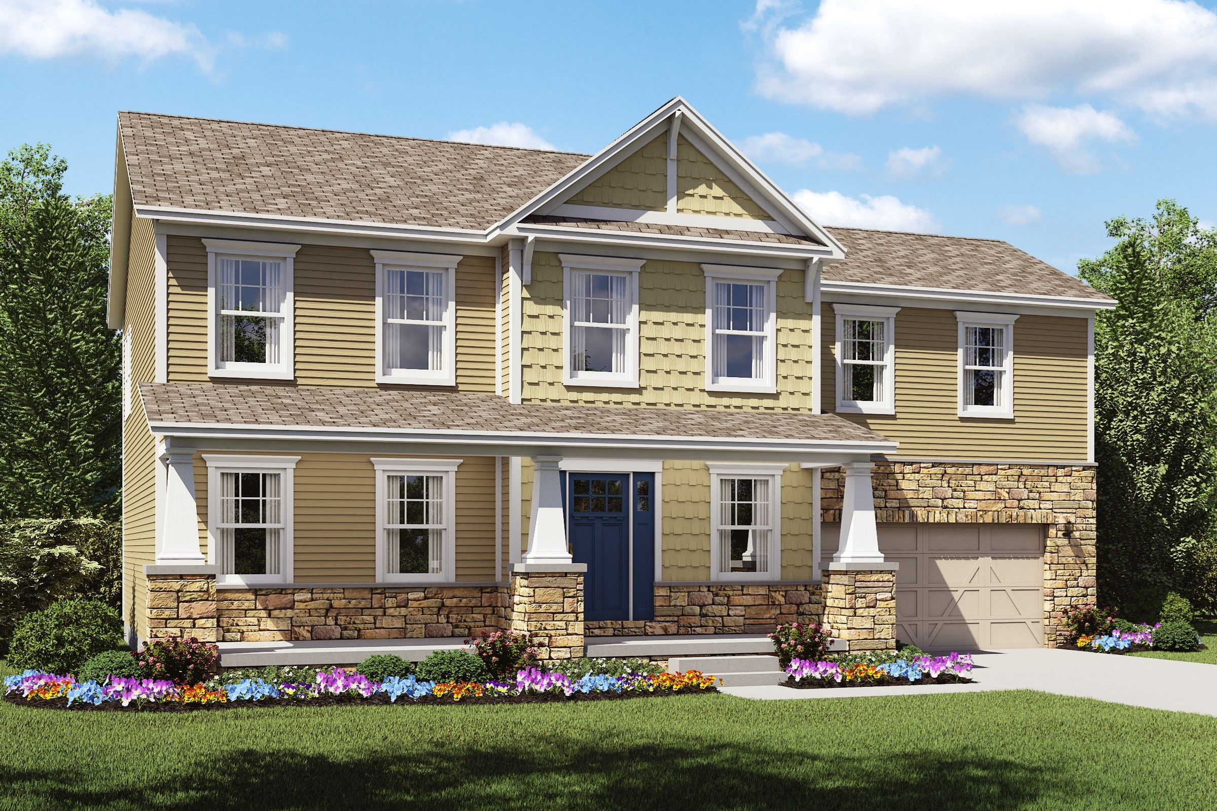 Exterior featured in the Olvera II By K. Hovnanian® Homes - Build on Your Lot