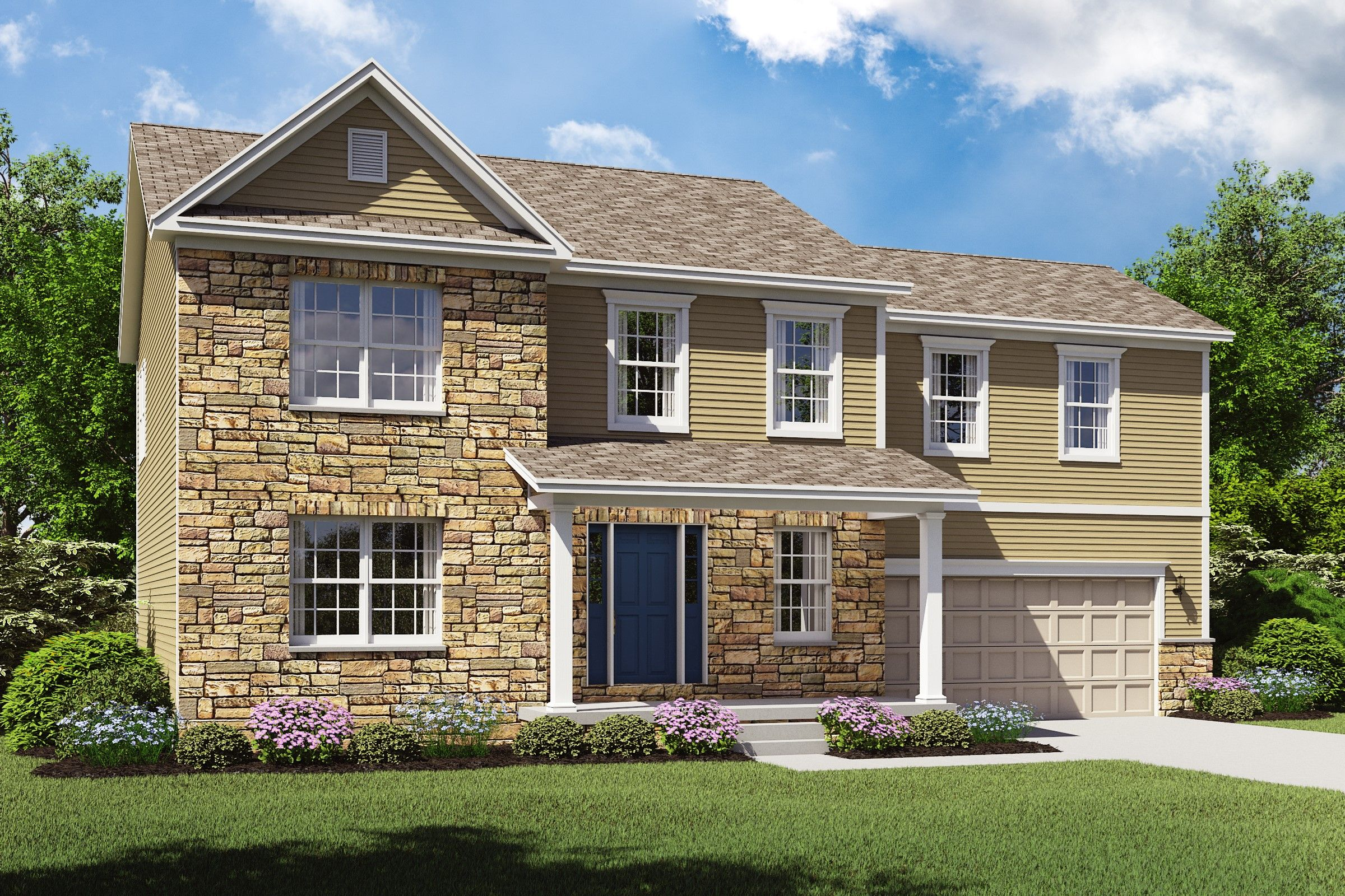 Exterior featured in the Olvera II By K. Hovnanian® Homes - Build on Your Lot in Pittsburgh, PA