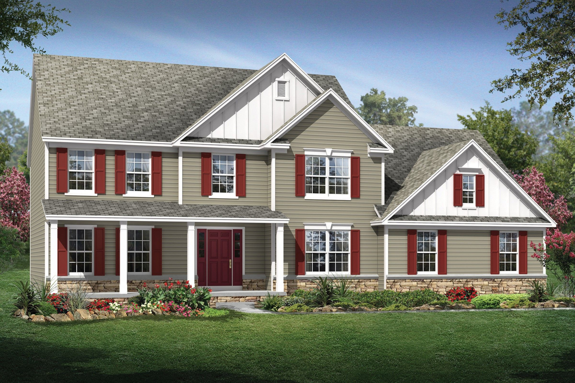 Exterior featured in the Oakwood By K. Hovnanian® Homes - Build on Your Lot in Mansfield, OH