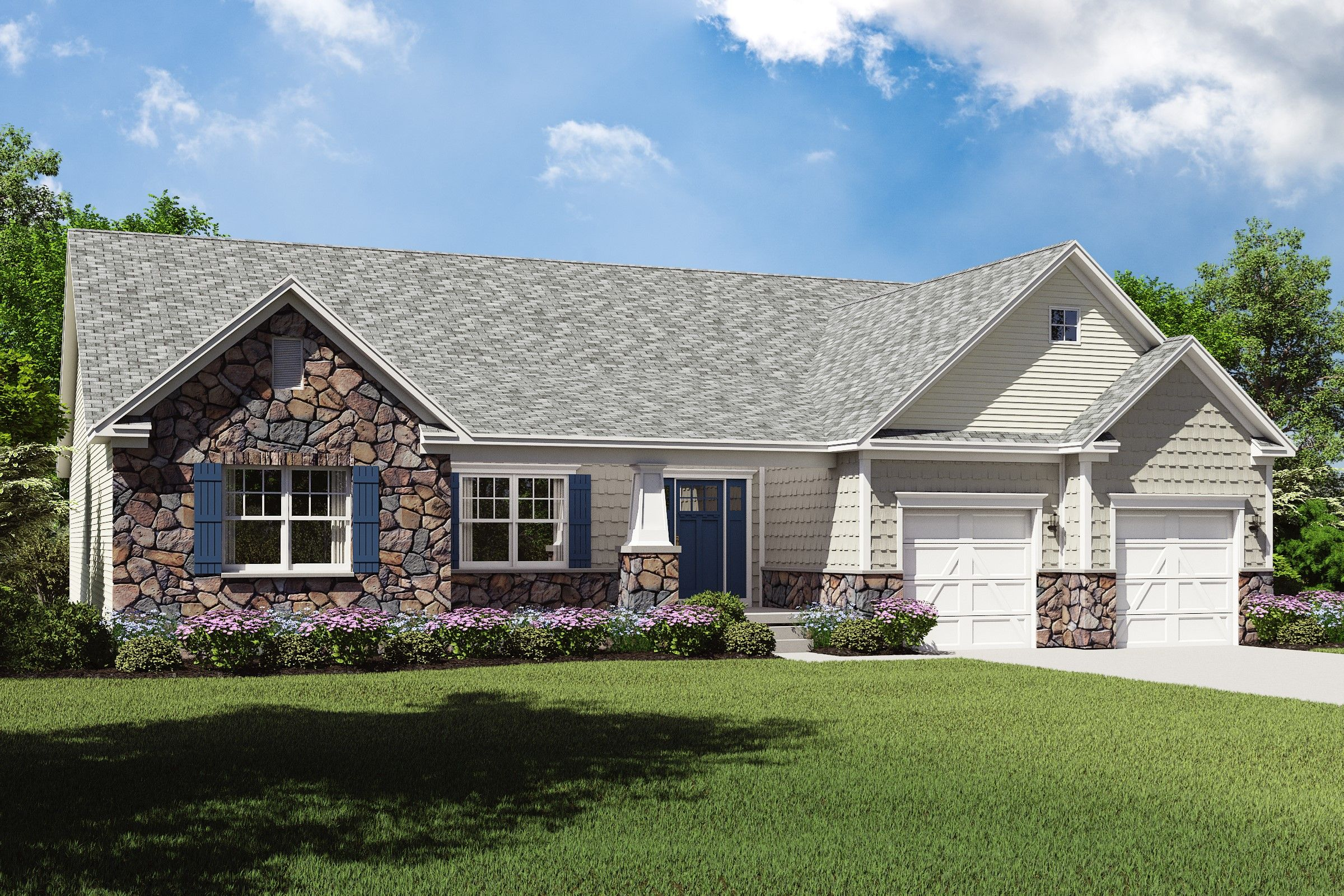 Exterior featured in the Dandridge By K. Hovnanian® Homes - Build on Your Lot in Mansfield, OH