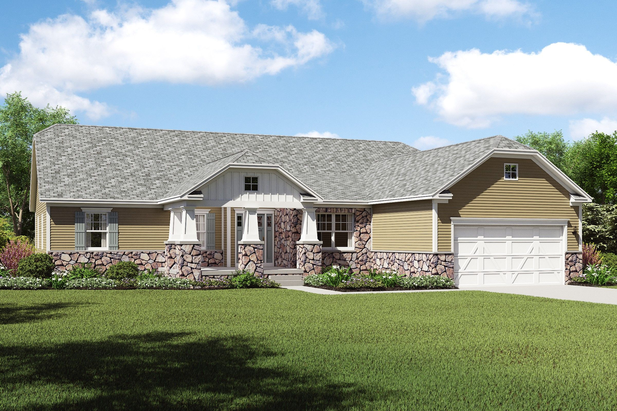 Exterior featured in the Gable By K. Hovnanian® Homes - Build on Your Lot in Canton-Massillon, OH