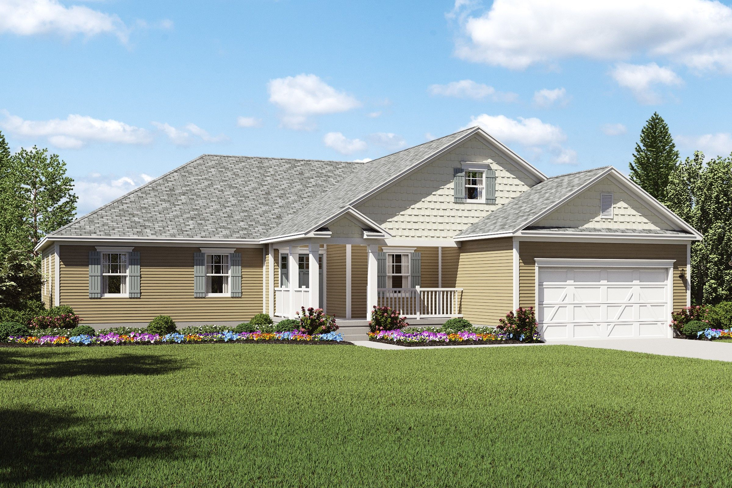 Exterior featured in the Gable By K. Hovnanian® Homes - Build on Your Lot in Toledo, OH