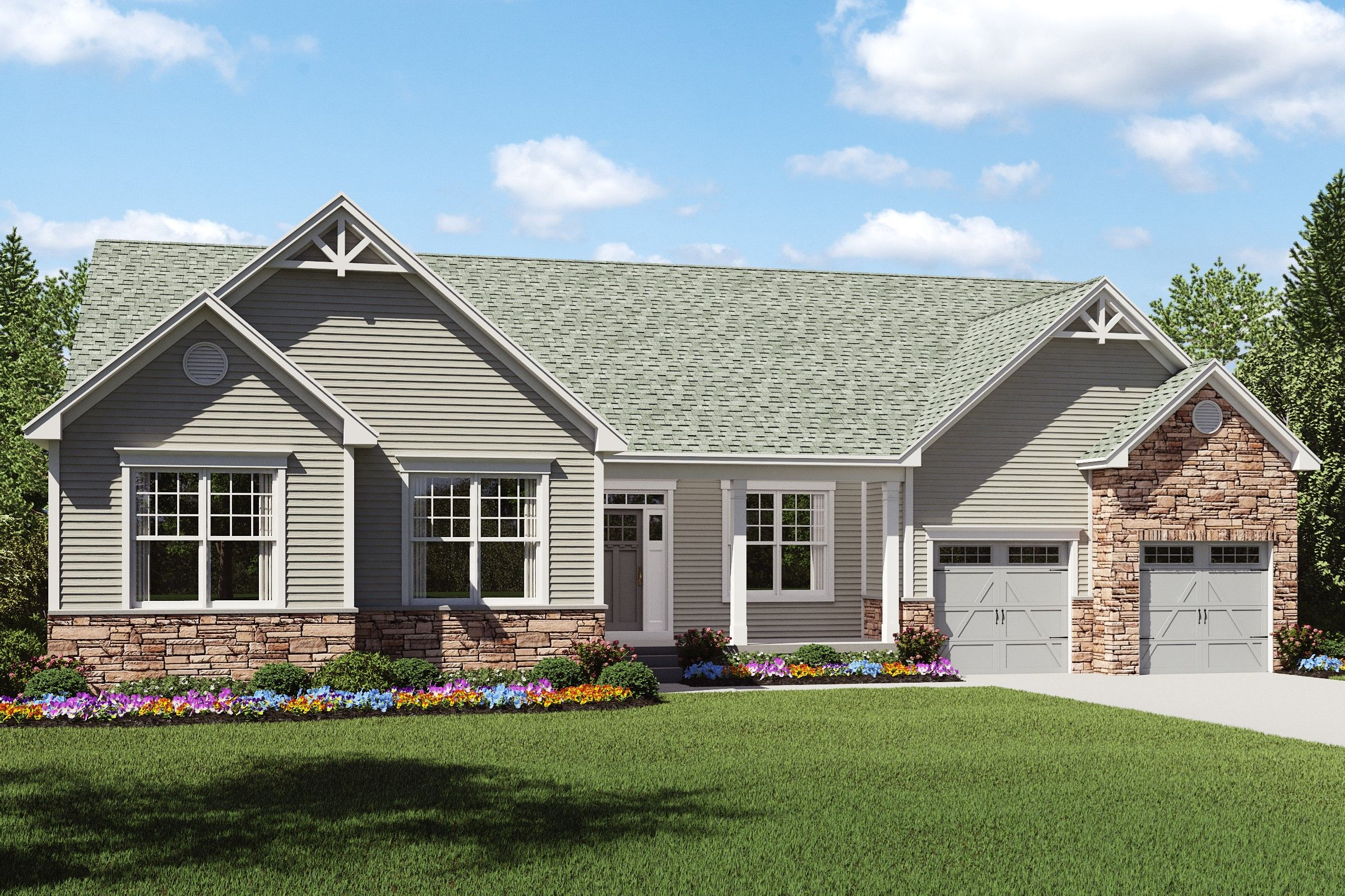 Exterior featured in the Faulkner By K. Hovnanian® Homes - Build on Your Lot