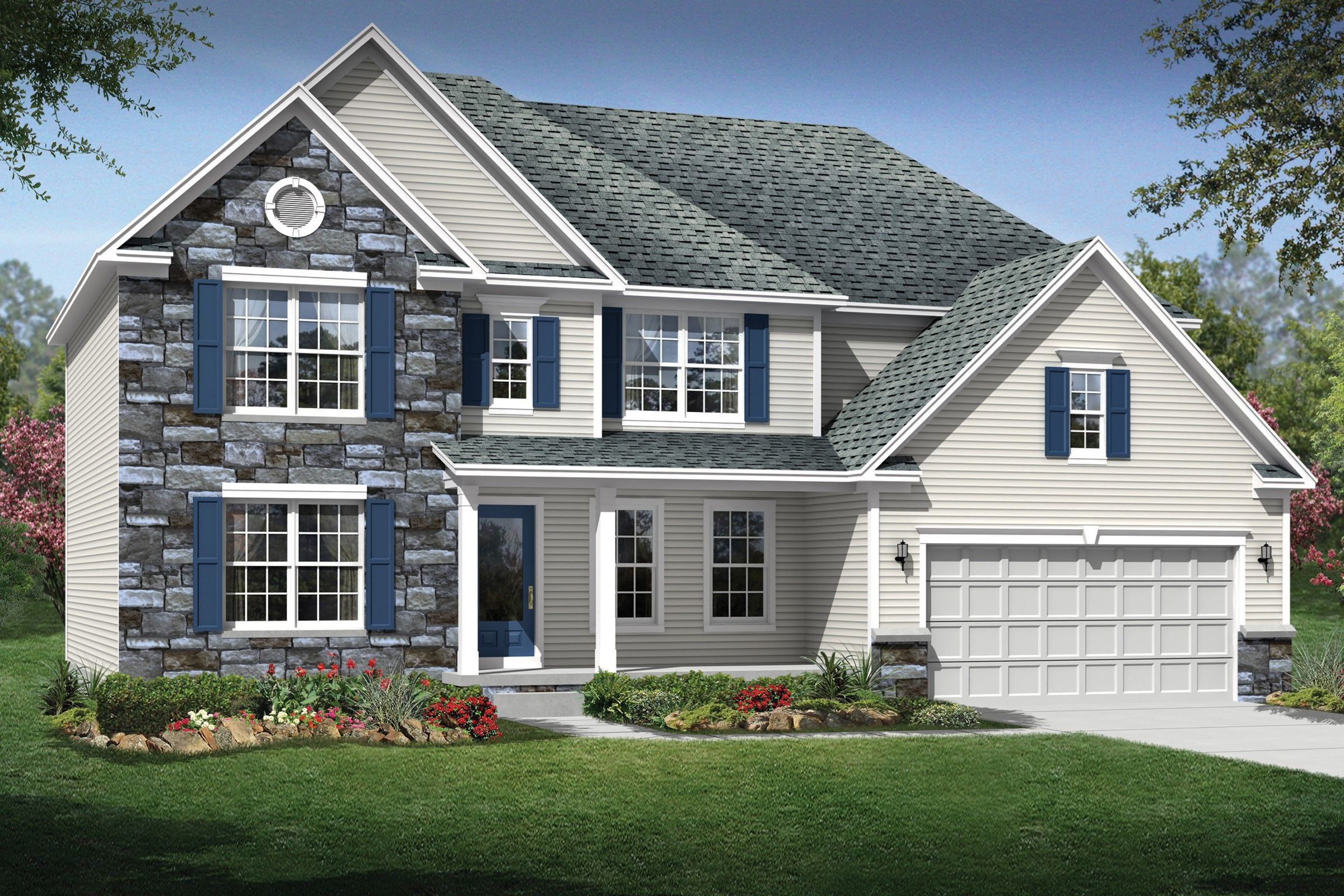 Exterior featured in the Philadelphia By K. Hovnanian® Homes - Build on Your Lot