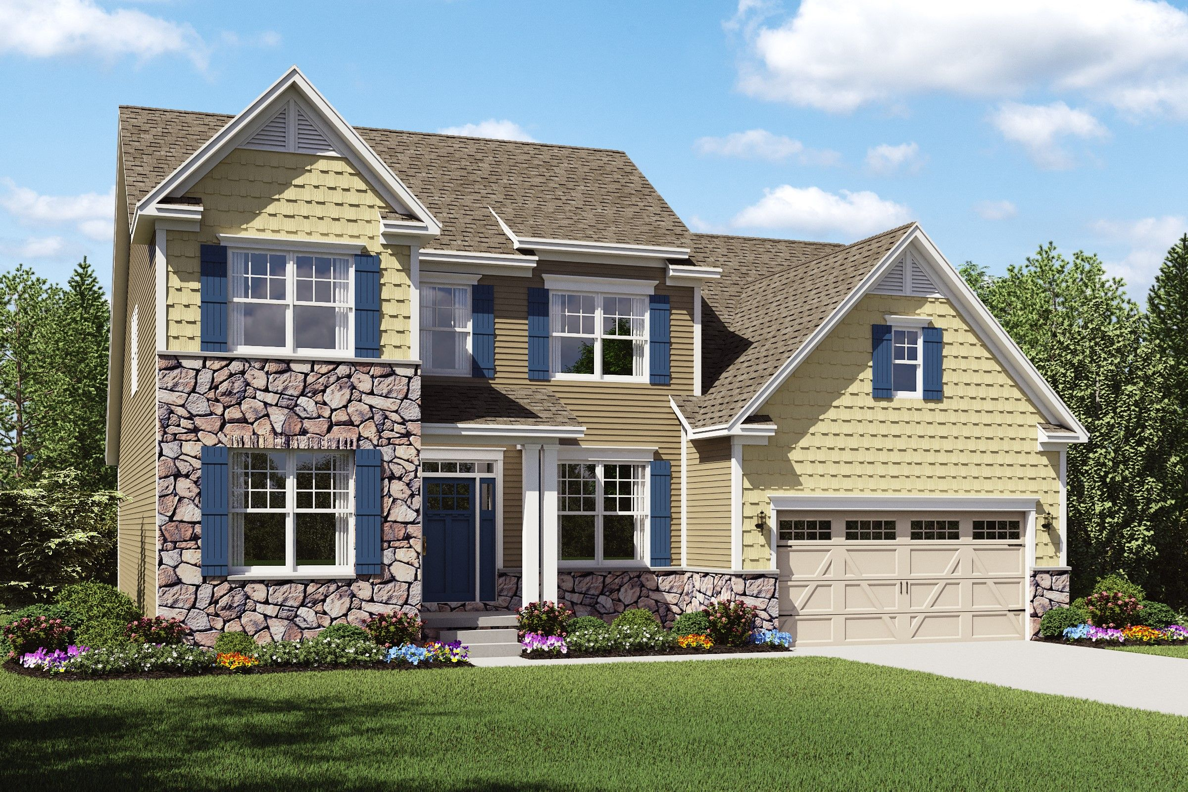 Exterior featured in the Baltimore By K. Hovnanian® Homes - Build on Your Lot