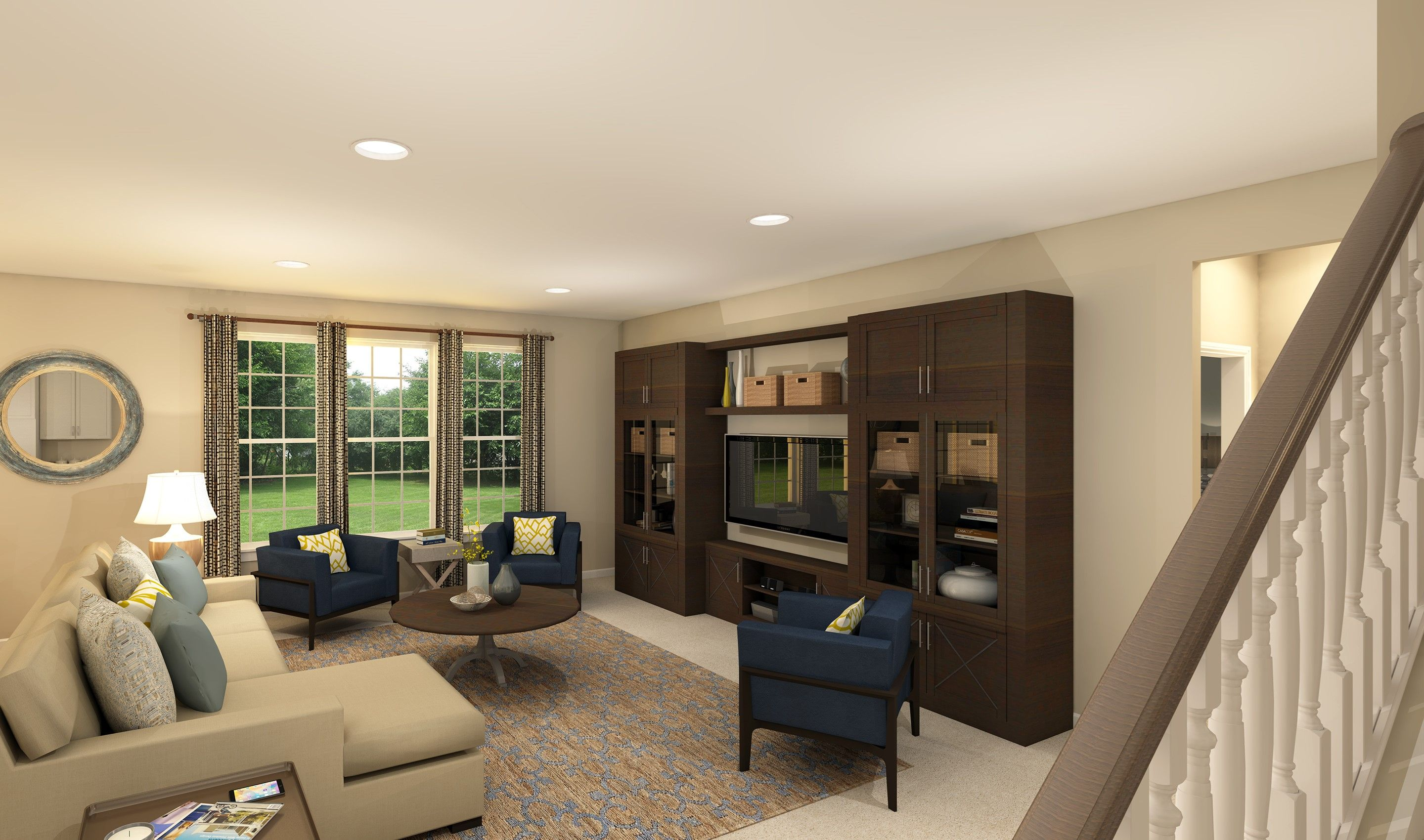 Living Area featured in the Baltimore By K. Hovnanian® Homes - Build on Your Lot in Toledo, OH