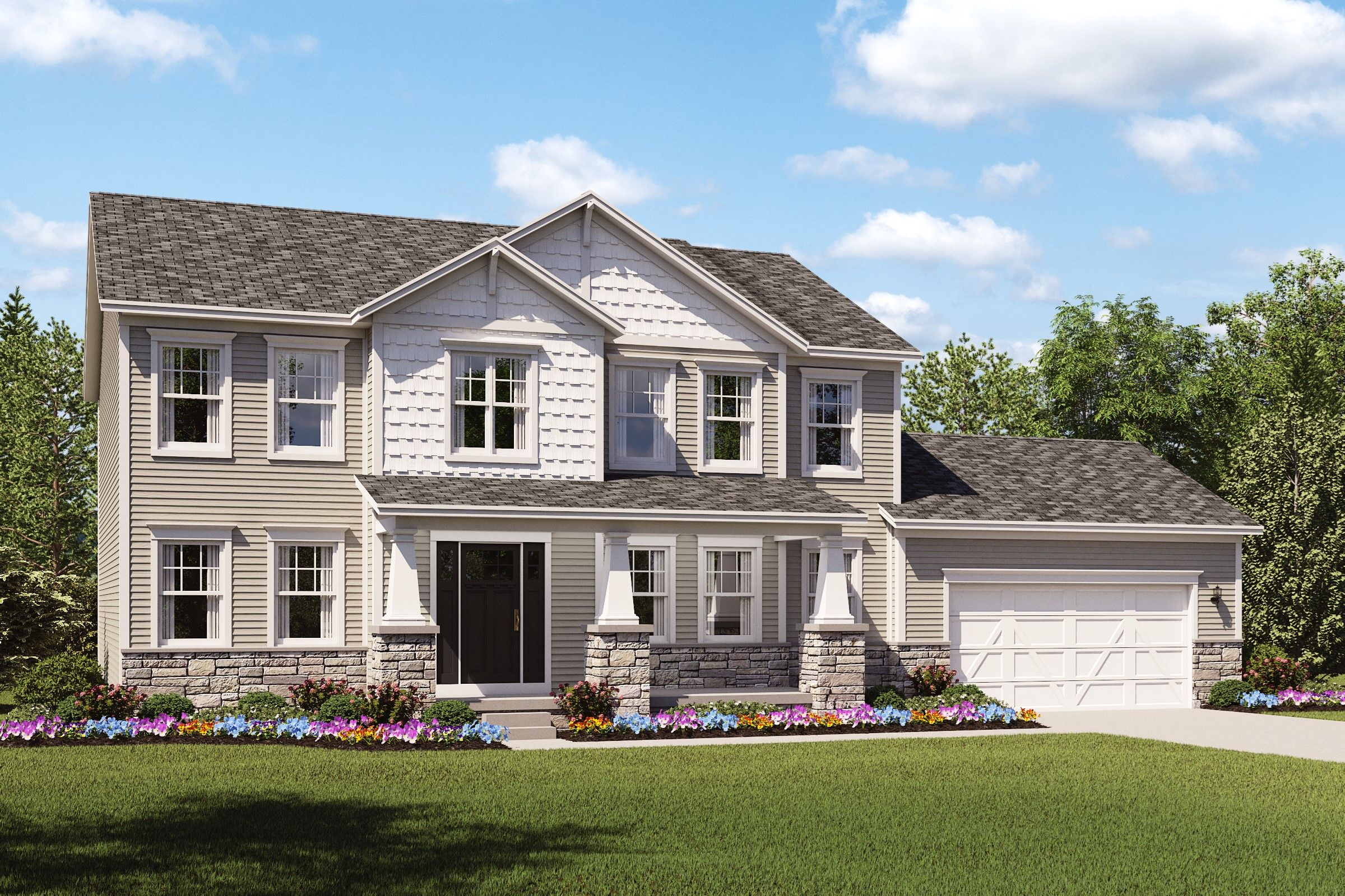 Exterior featured in the Wright By K. Hovnanian® Homes - Build on Your Lot in Mansfield, OH