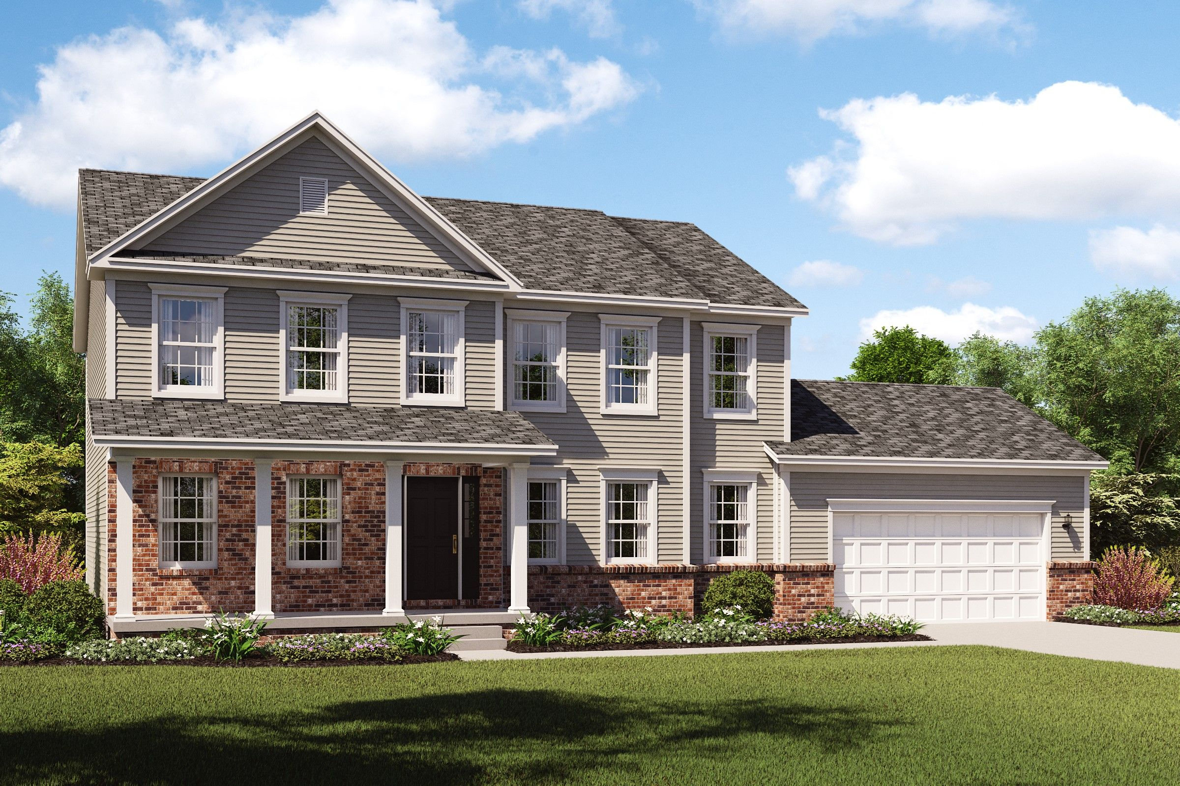 Exterior featured in the Wright By K. Hovnanian® Homes - Build on Your Lot in Canton-Massillon, OH