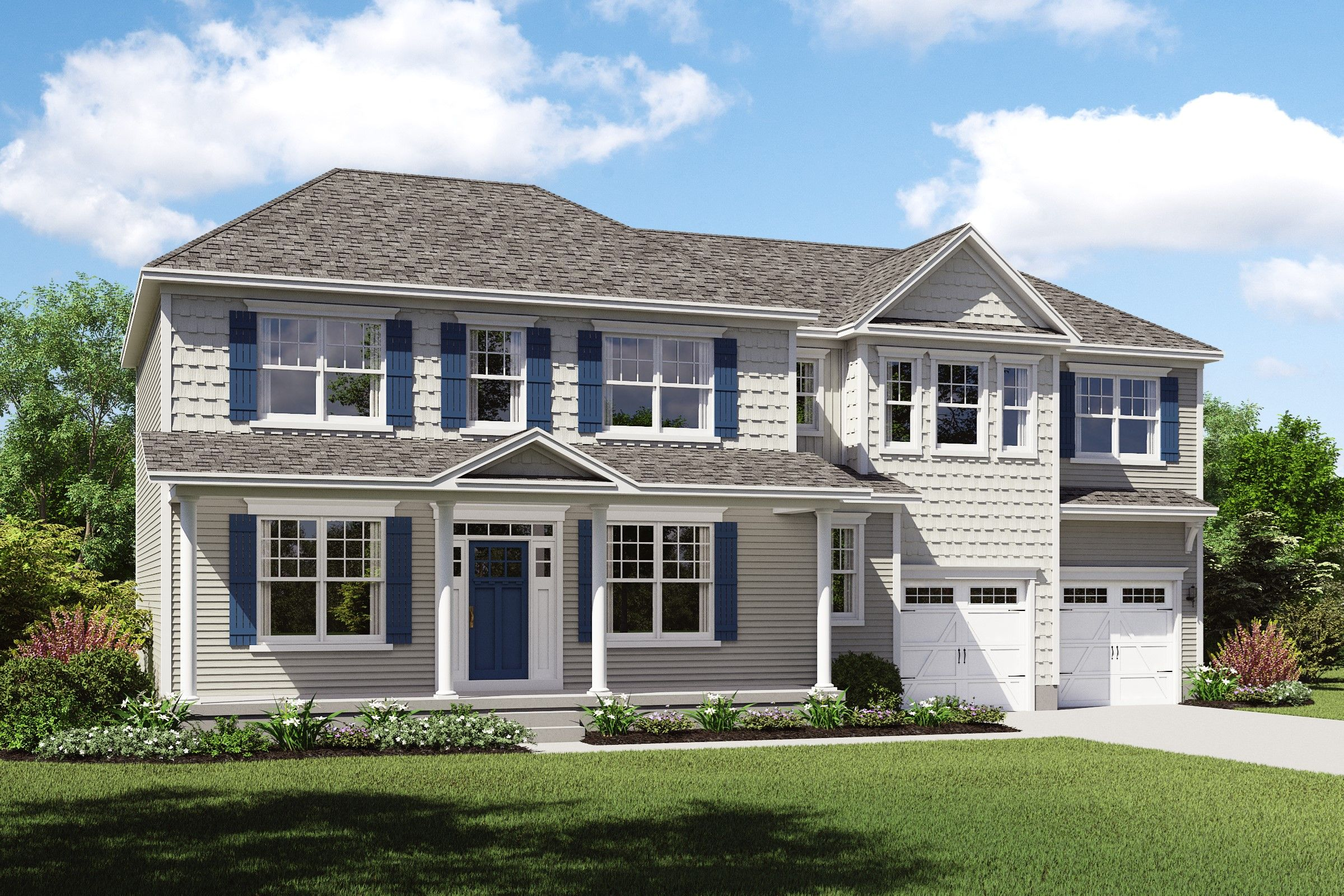 Exterior featured in the Pendleton II By K. Hovnanian® Homes - Build on Your Lot