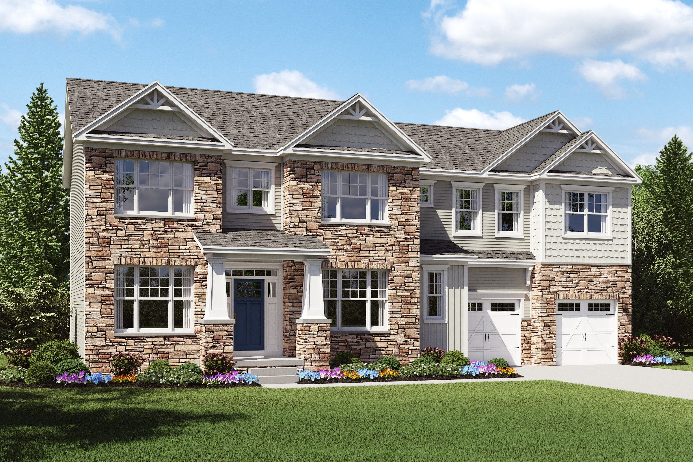 Exterior featured in the Pendleton By K. Hovnanian® Homes - Build on Your Lot