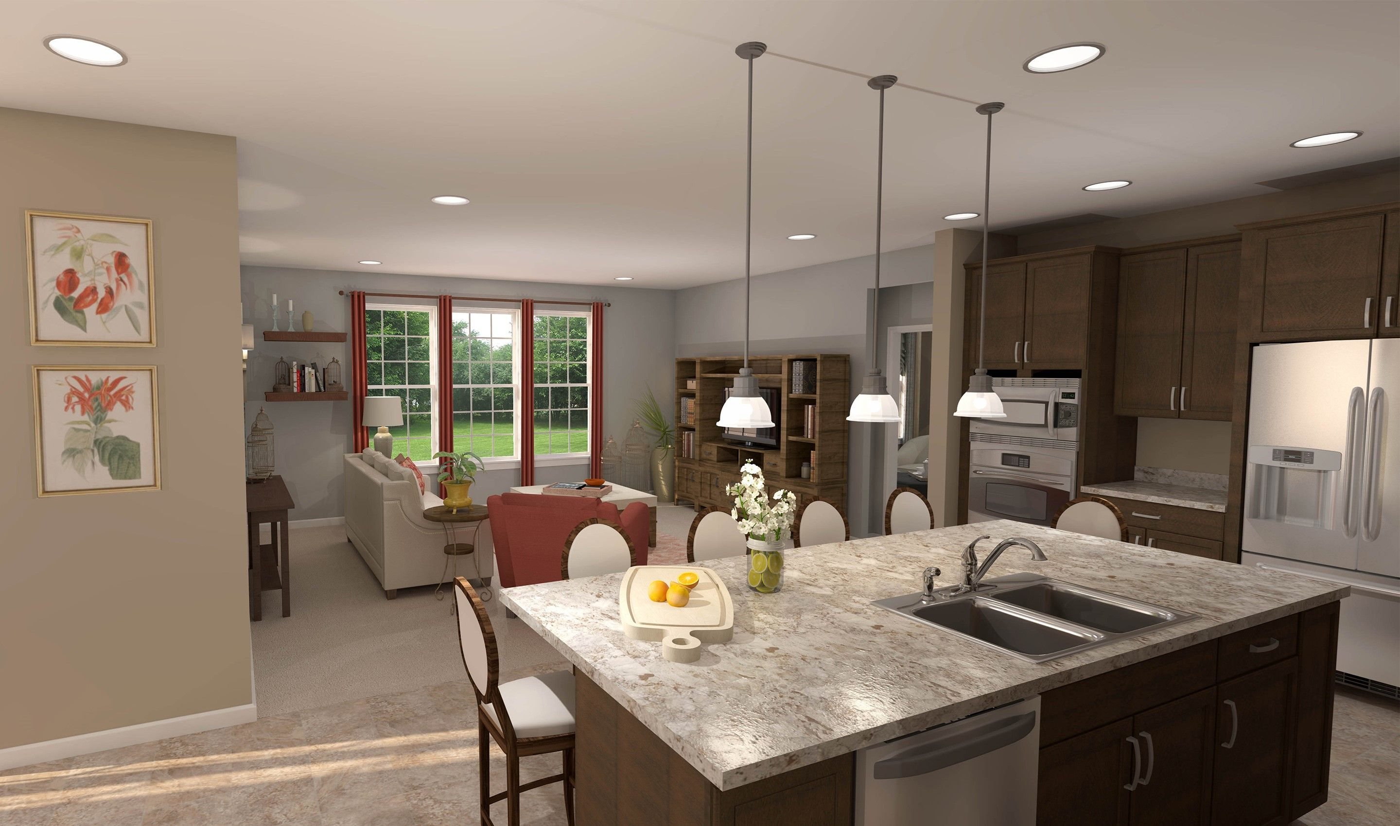 Living Area featured in the Charlottesville By K. Hovnanian® Homes - Build on Your Lot