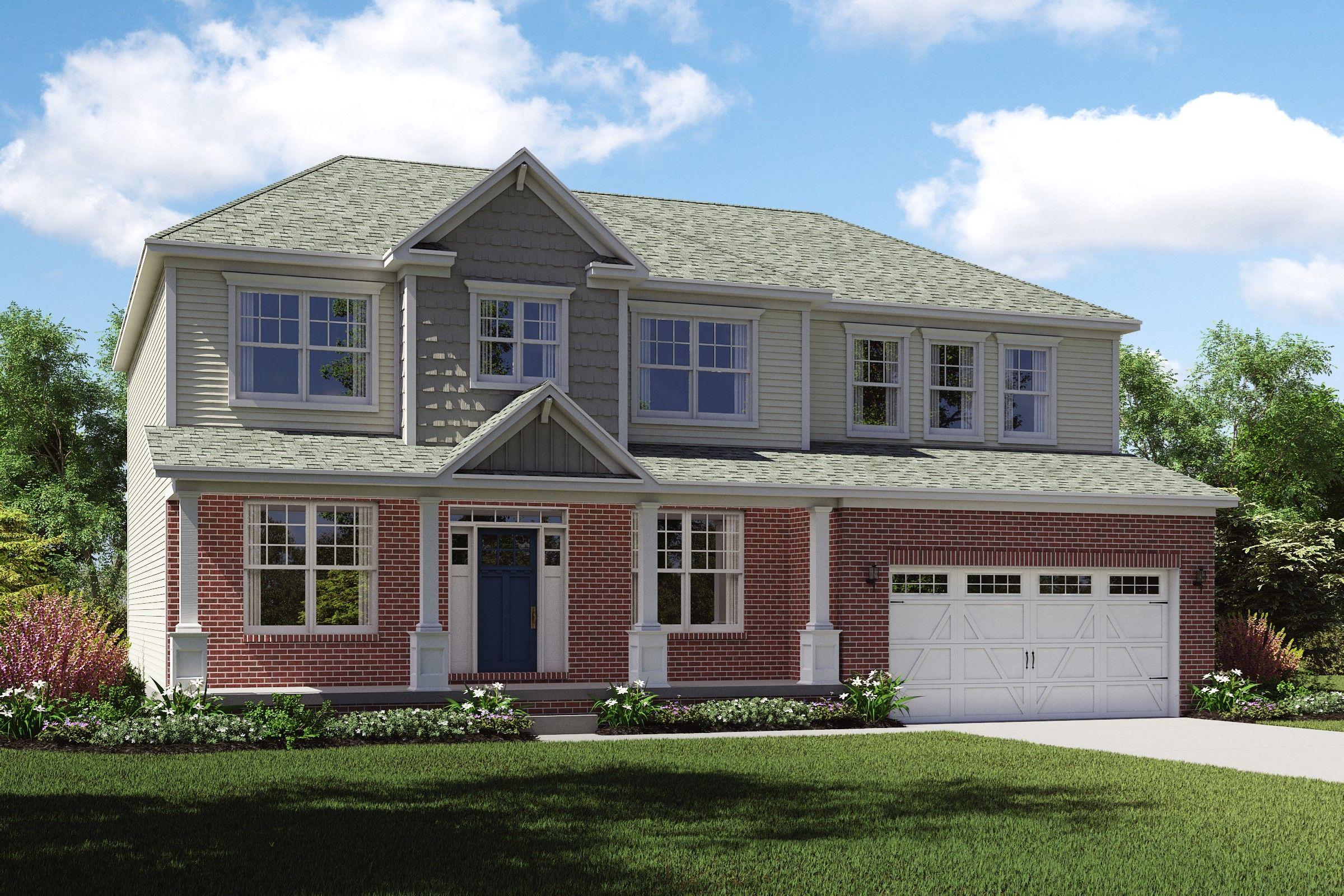 Exterior featured in the Dover By K. Hovnanian® Homes - Build on Your Lot in Youngstown-Warren, OH
