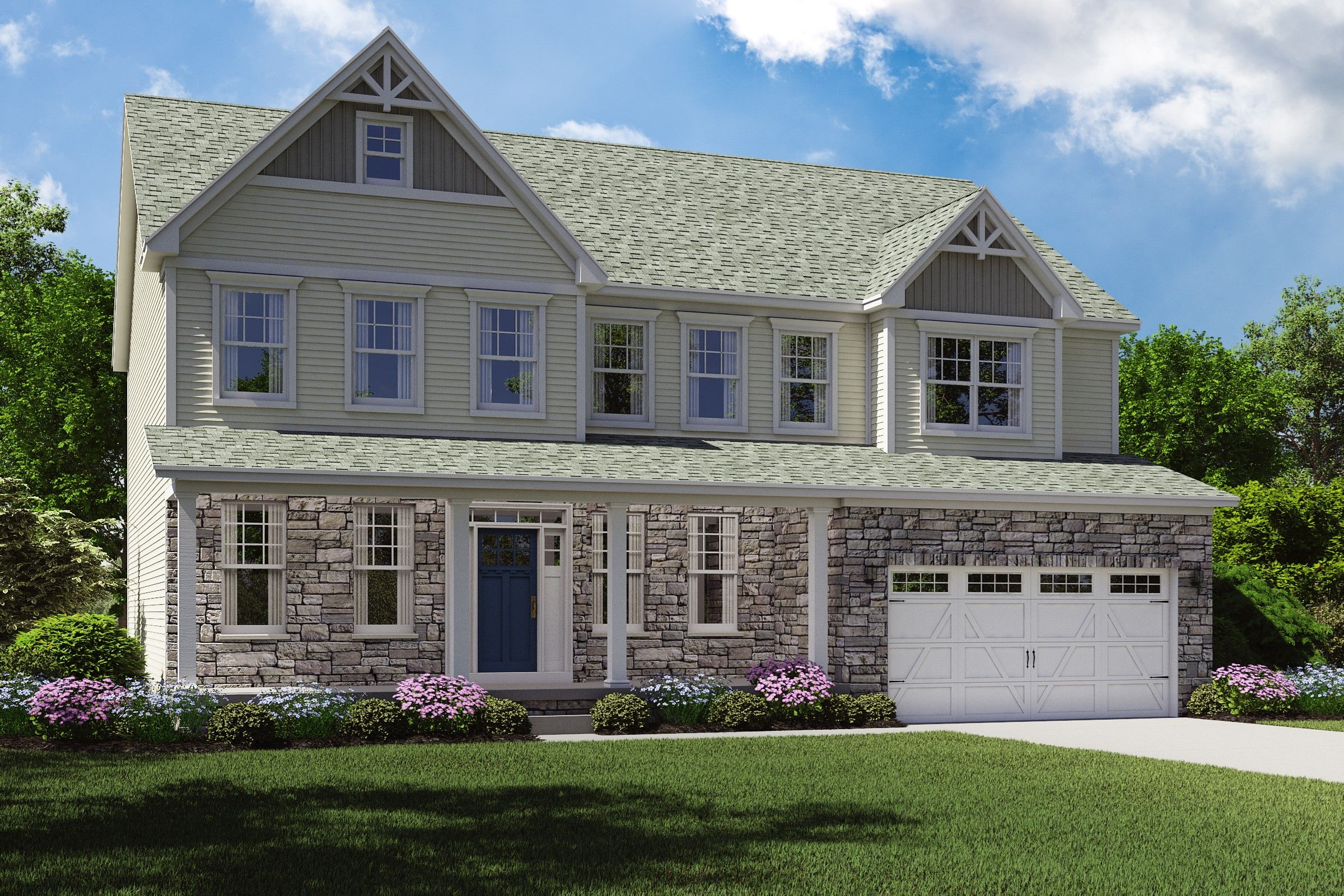Exterior featured in the Dover By K. Hovnanian® Homes - Build on Your Lot in Toledo, OH