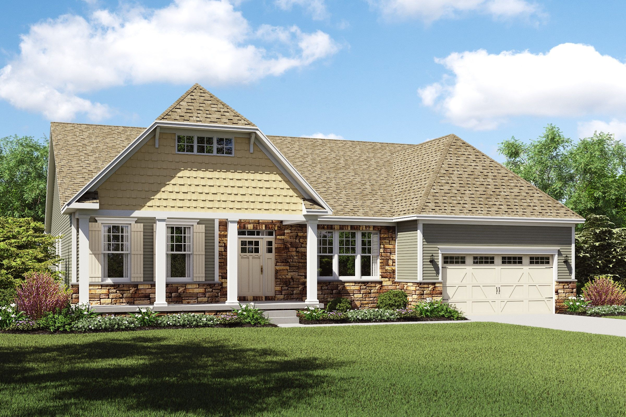Exterior featured in the Longdale By K. Hovnanian® Homes - Build on Your Lot in Toledo, OH