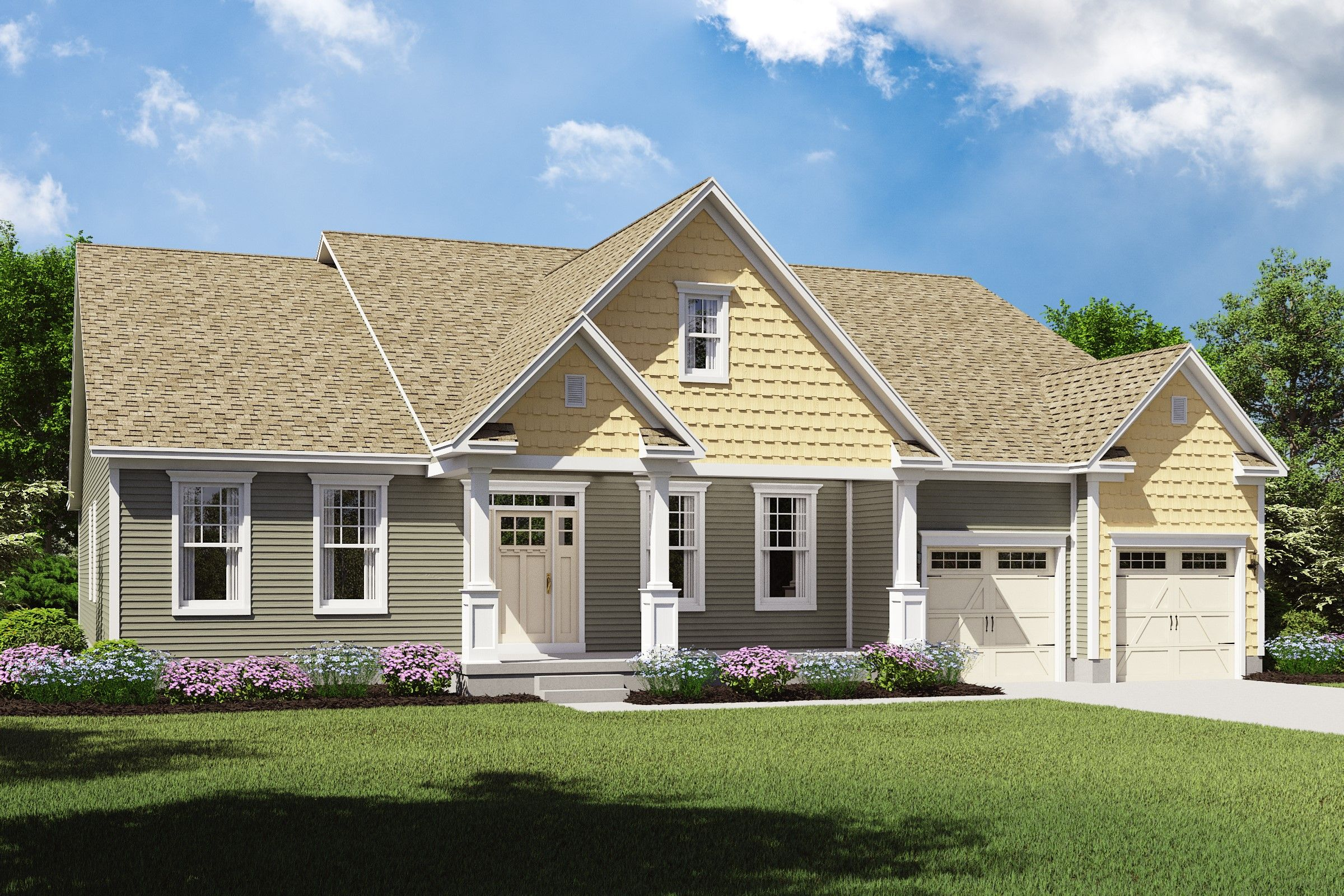 Exterior featured in the Longdale By K. Hovnanian® Homes - Build on Your Lot