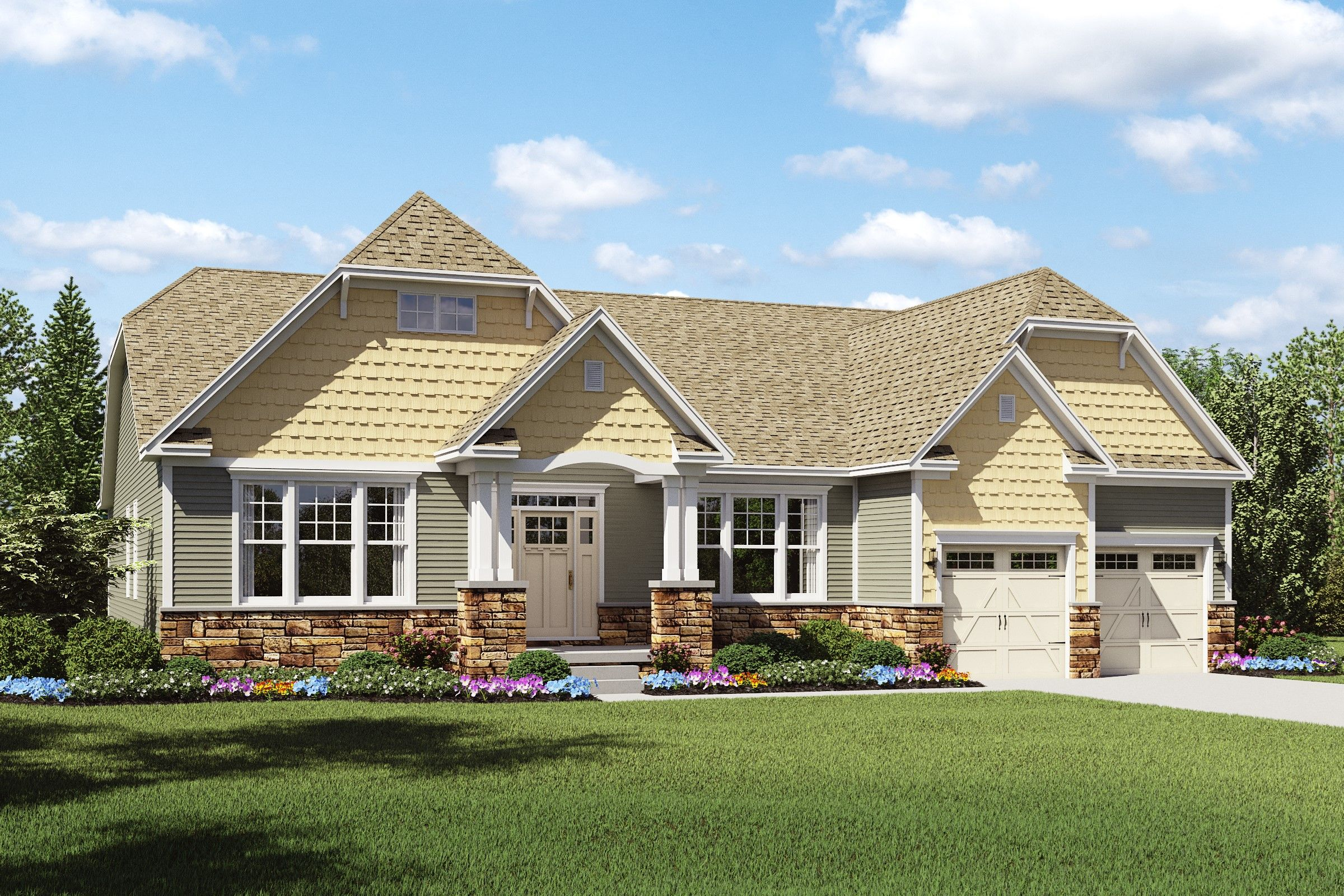 Exterior featured in the Longdale By K. Hovnanian® Homes - Build on Your Lot in Mansfield, OH
