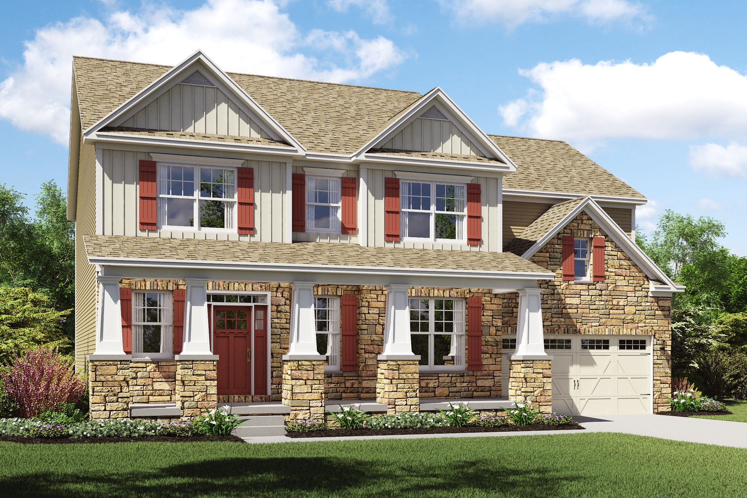 Exterior featured in the Thorndale By K. Hovnanian® Homes - Build on Your Lot in Mansfield, OH