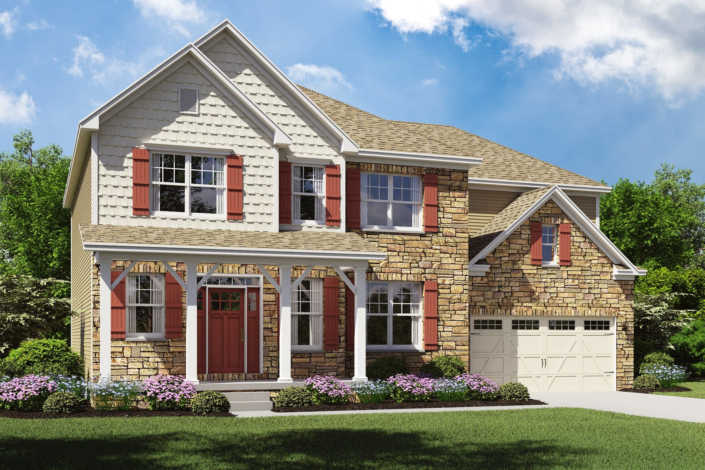 Exterior featured in the Thorndale By K. Hovnanian® Homes - Build on Your Lot