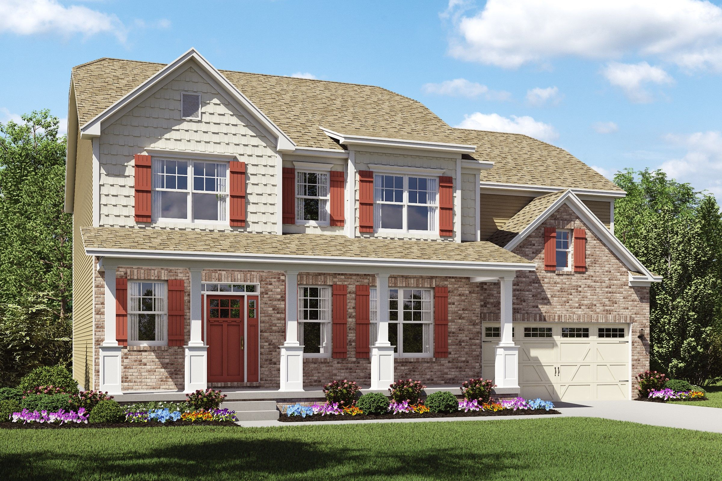 Exterior featured in the Thorndale By K. Hovnanian® Homes - Build on Your Lot in Toledo, OH