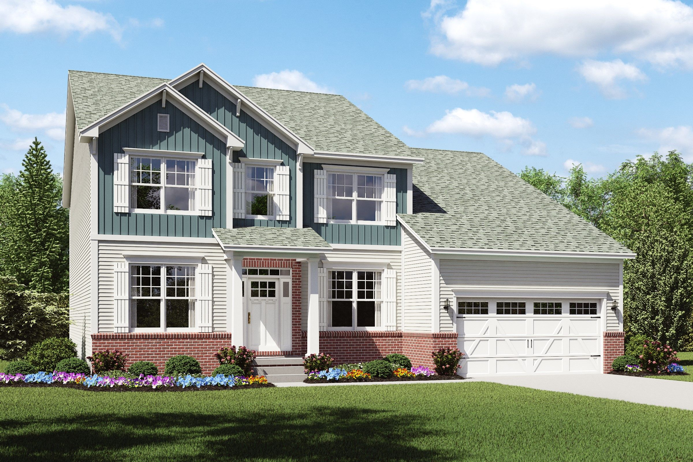 Exterior featured in the Portland By K. Hovnanian® Homes - Build on Your Lot in Columbus, OH