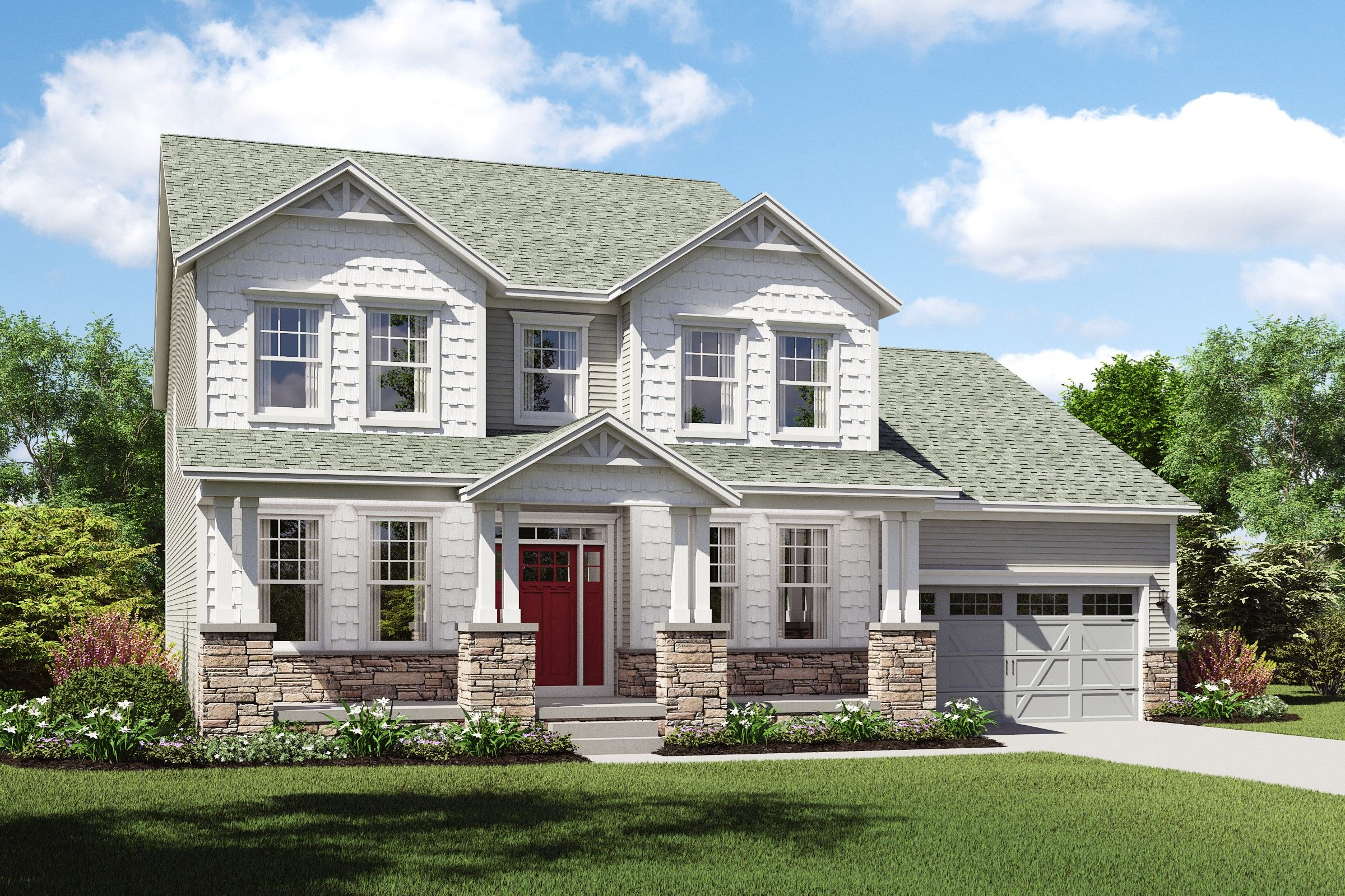 Exterior featured in the Oxnard I By K. Hovnanian® Homes - Build on Your Lot in Mansfield, OH