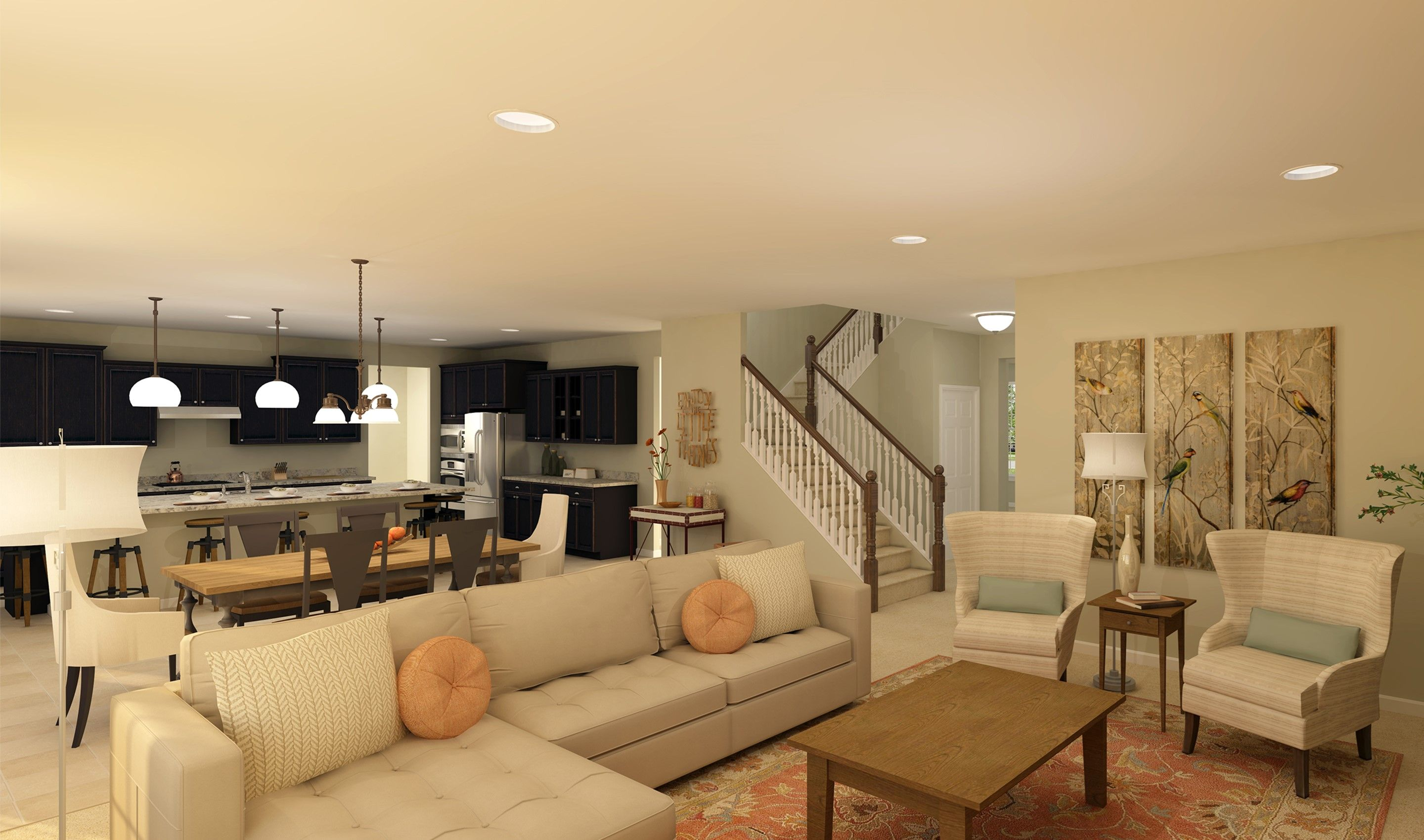 Living Area featured in the Oxnard I By K. Hovnanian® Homes - Build on Your Lot in Mansfield, OH