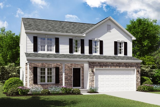 Exterior:Hanover C with optional stone